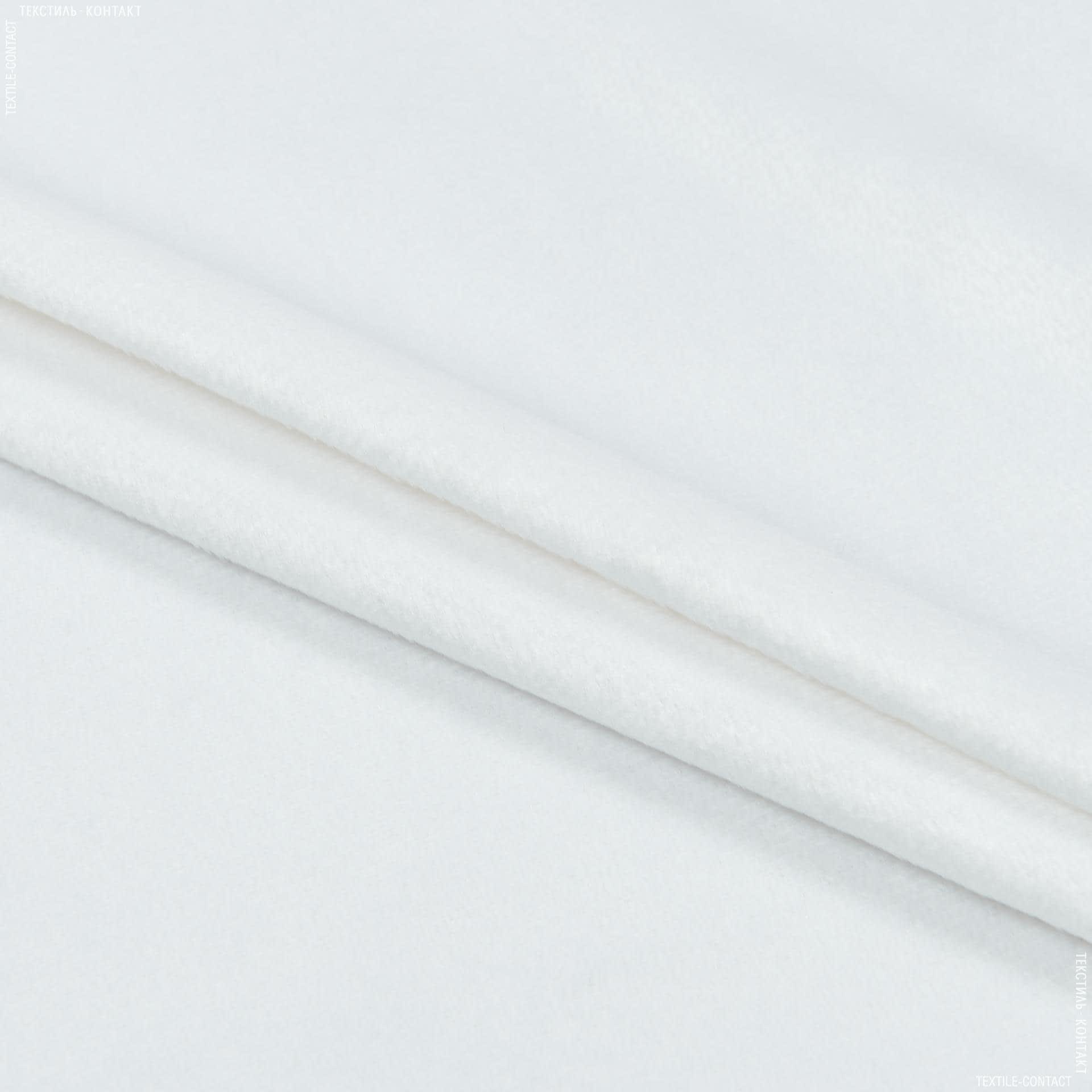 Ткани для верхней одежды - Плюш (вельбо) лайт белый