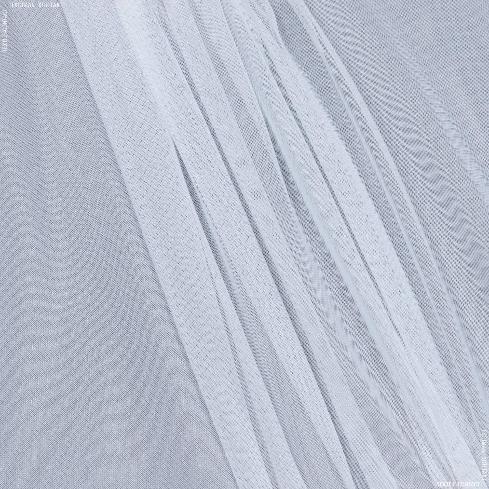 Тканини для суконь - Сітка блиск білий
