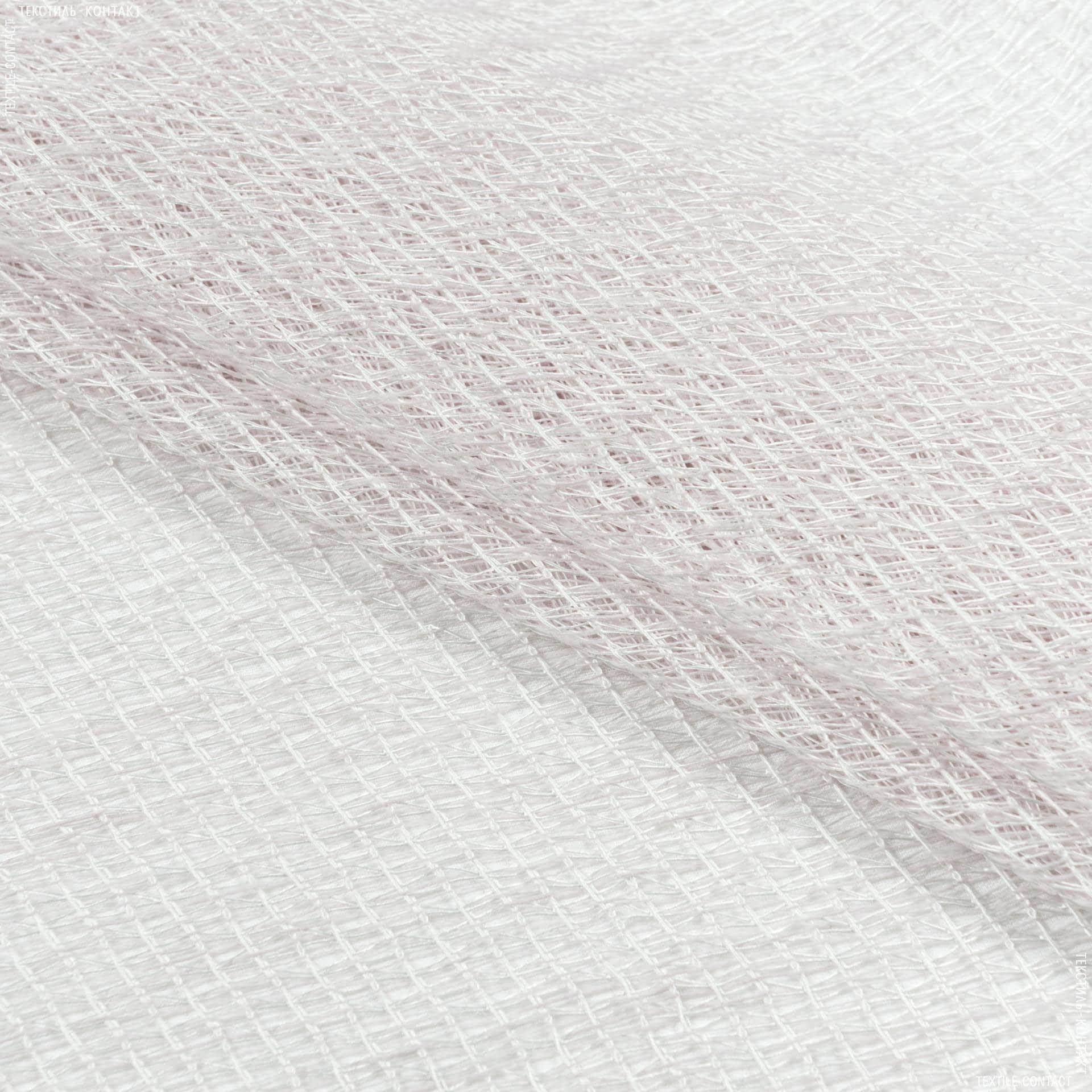 Тканини для рукоділля - Тюль сітка з обважнювачем ГЛАФІРА св. рожевий