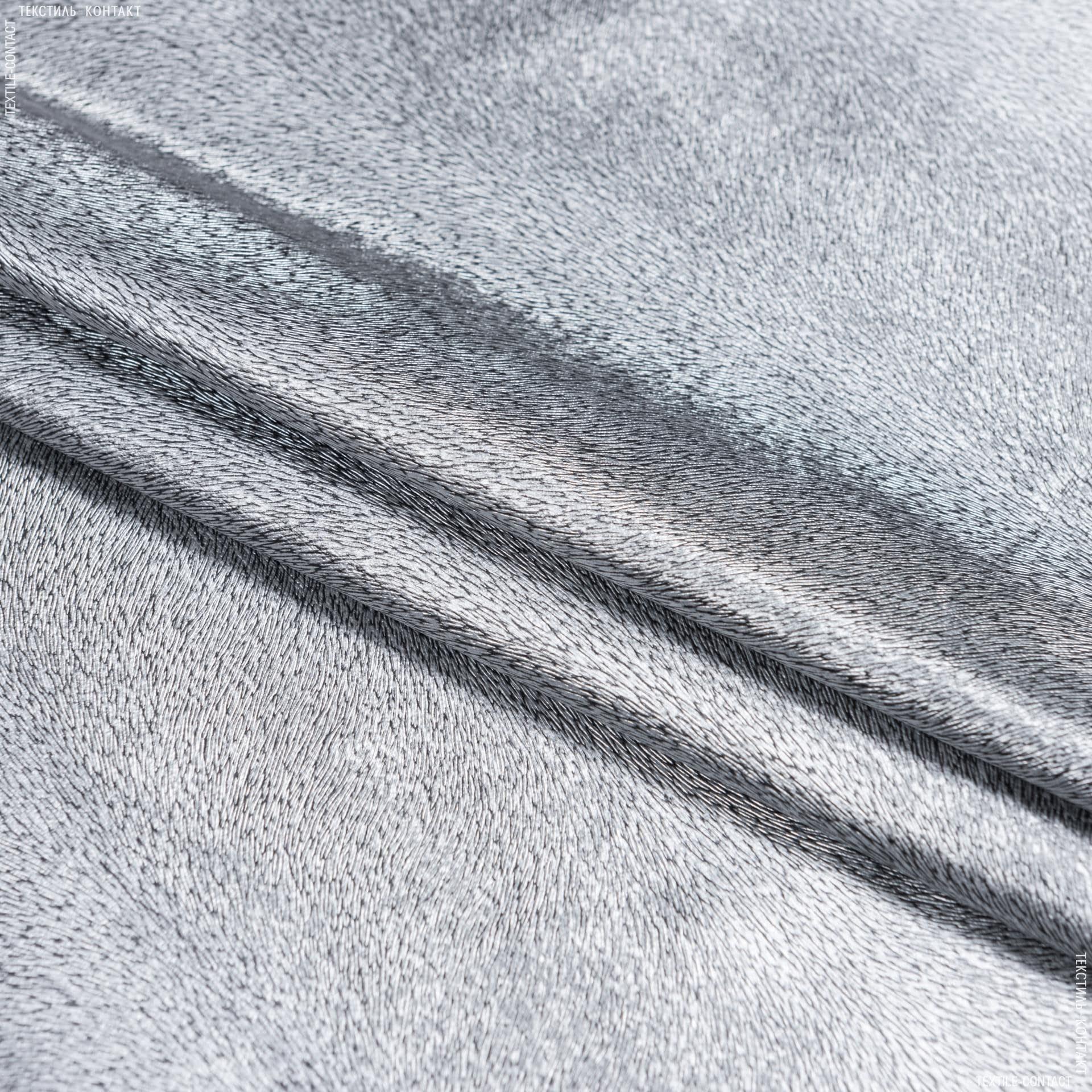 Ткани для верхней одежды - Искусственная кожа тисненая серебро