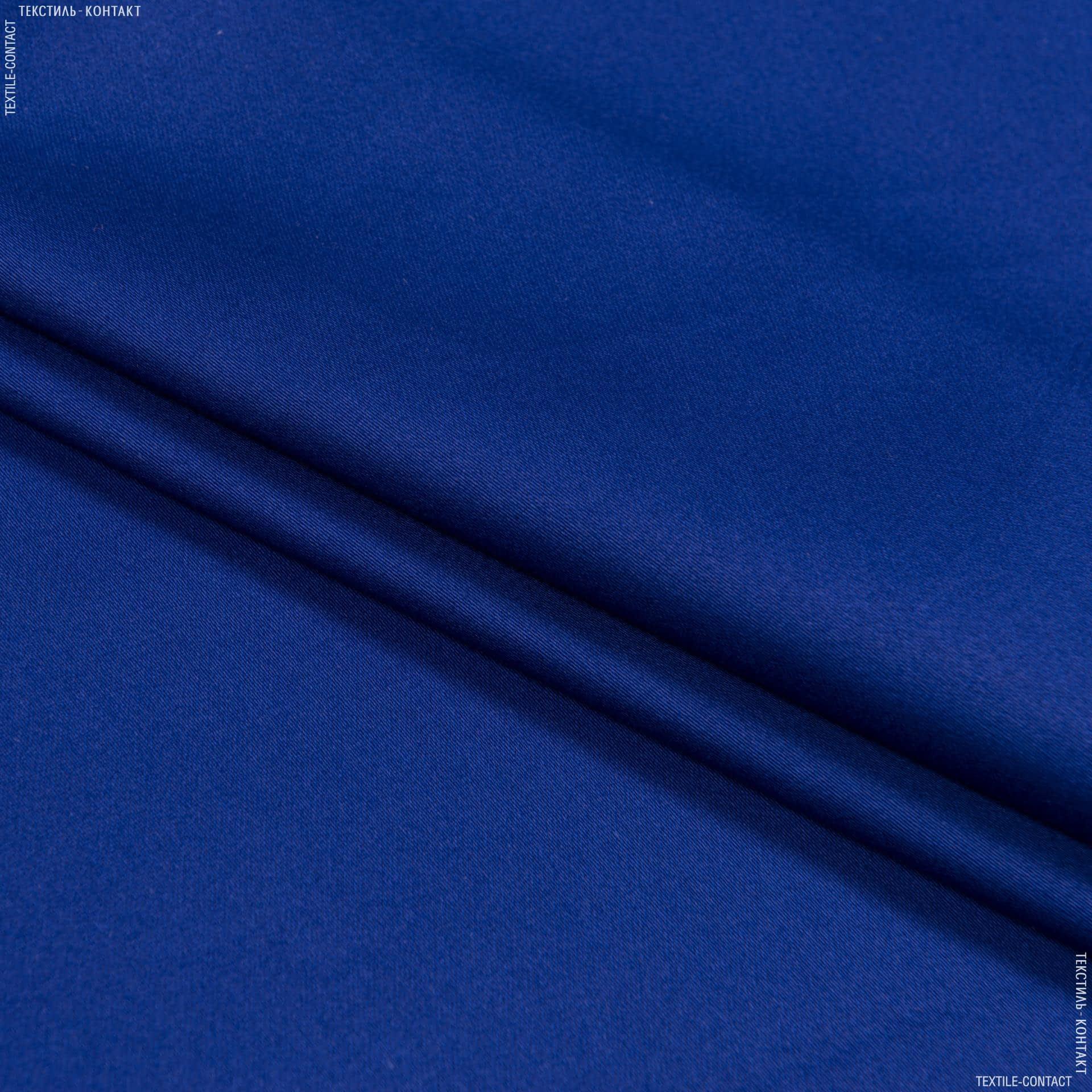 Ткани для брюк - Коттон-сатин лайт стрейч электрик