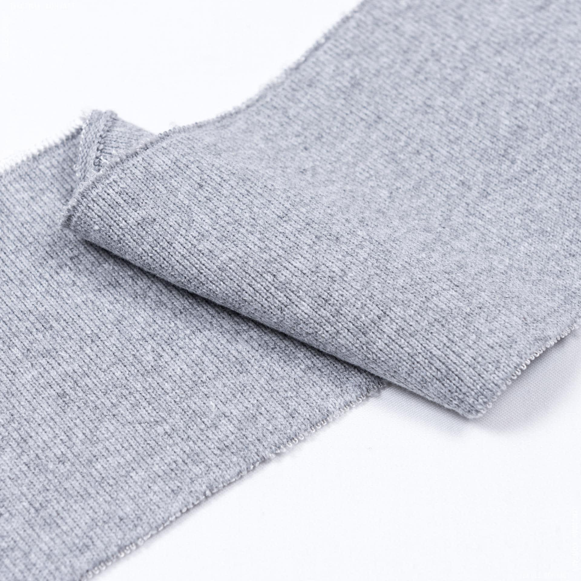 Ткани трикотаж - Воротник- манжет  серый/меланж   10 х 42