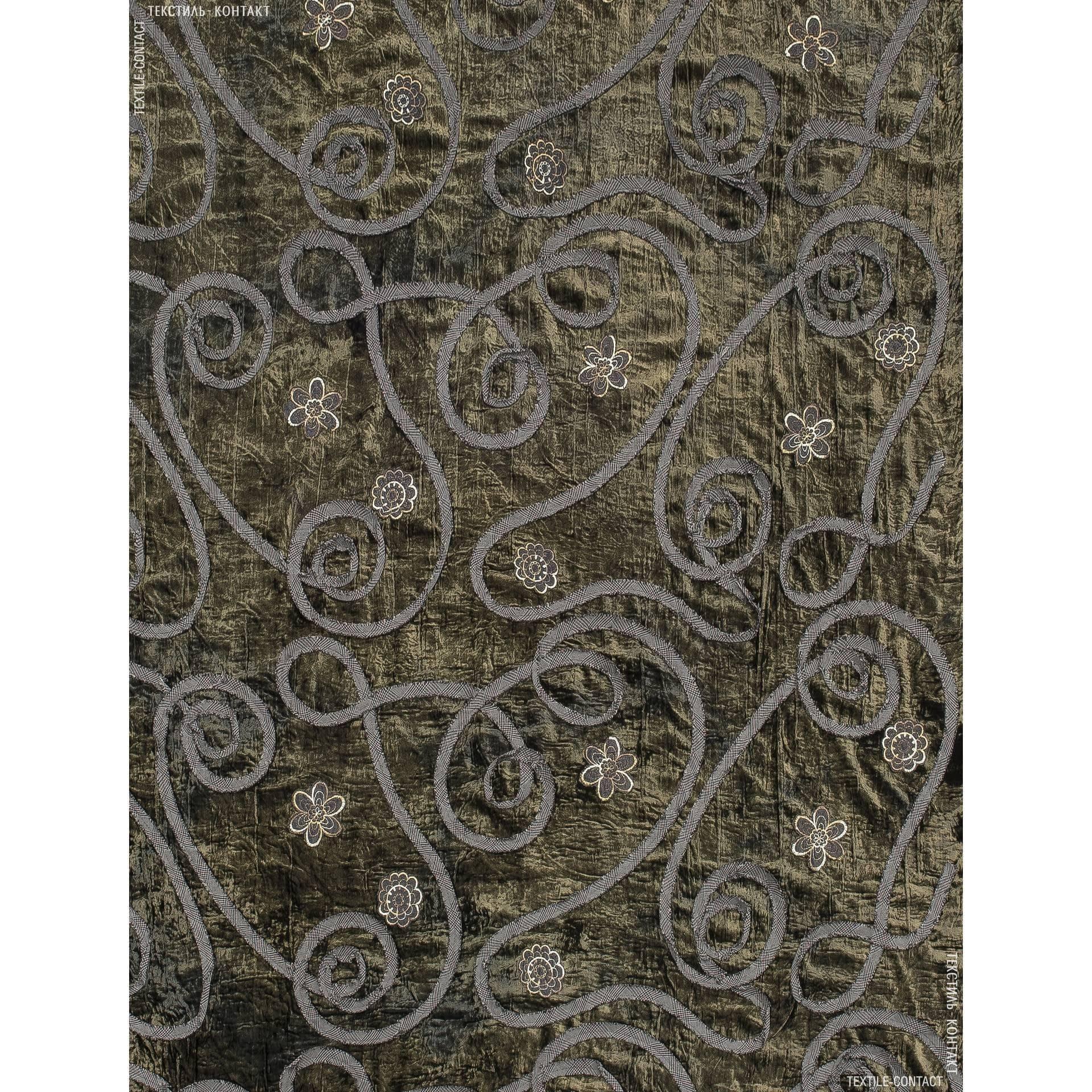 Ткани для платьев - Велюр с аппликацией черный