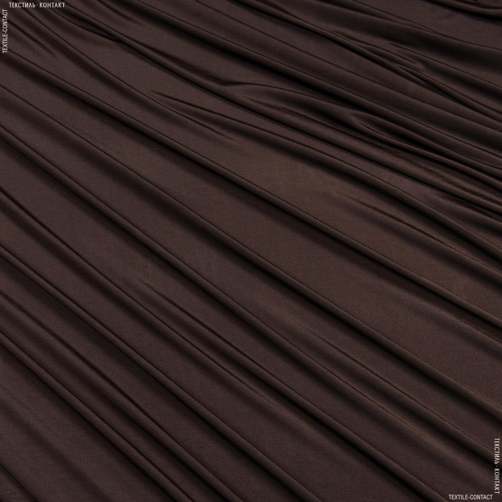 Ткани для платьев - Трикотаж масло темно-коричневый