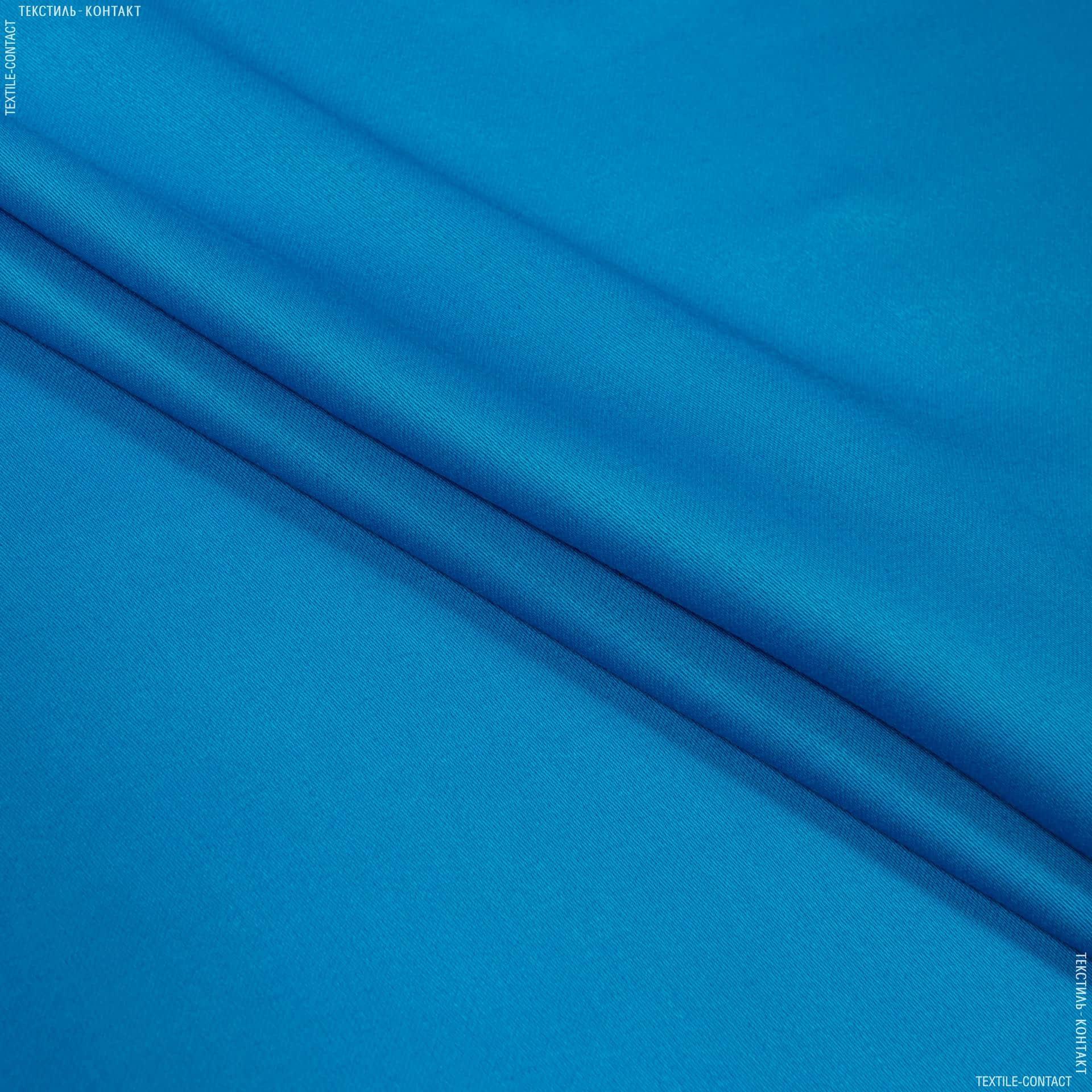 Тканини для суконь - Костюмний сатин темно-блакитний