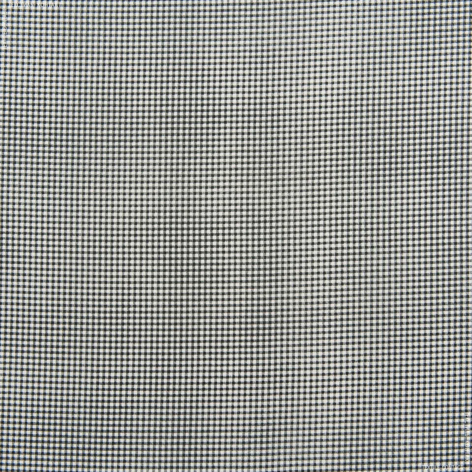 Ткани для спецодежды - Габардин мелкая клетка бело-черный