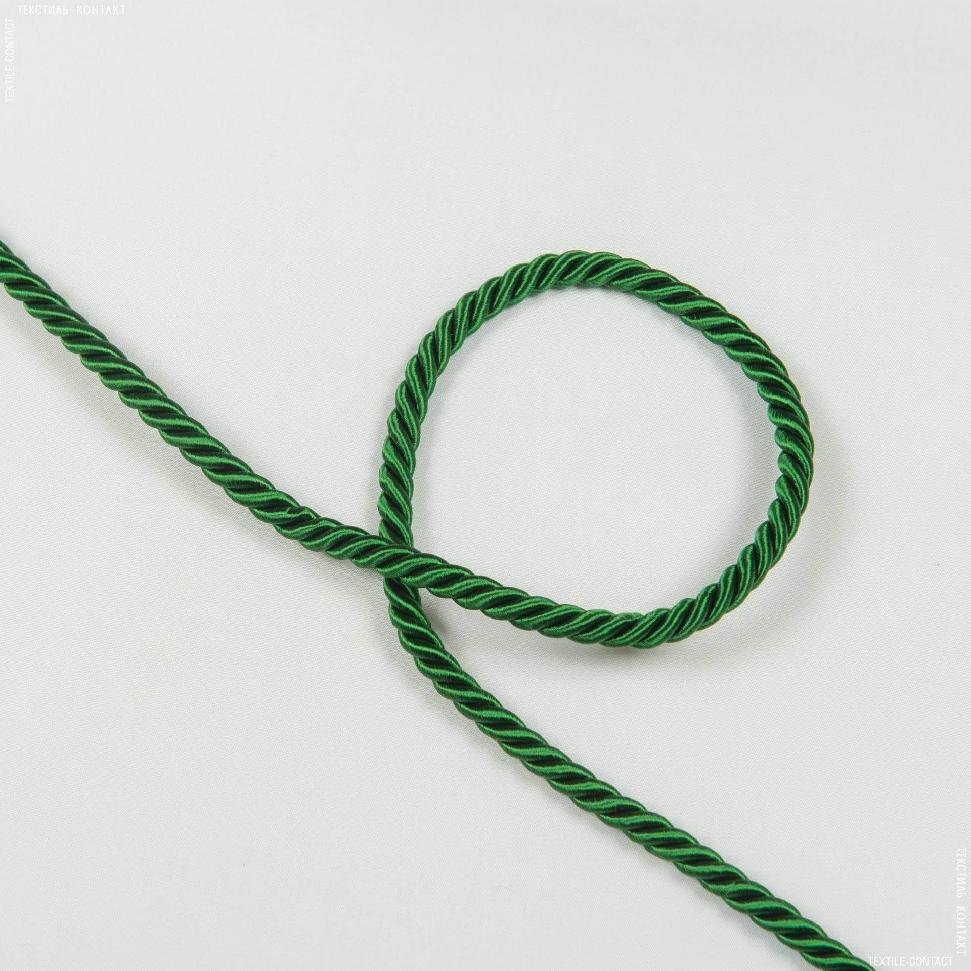 Ткани фурнитура для декора - Шнур Верона, зелень