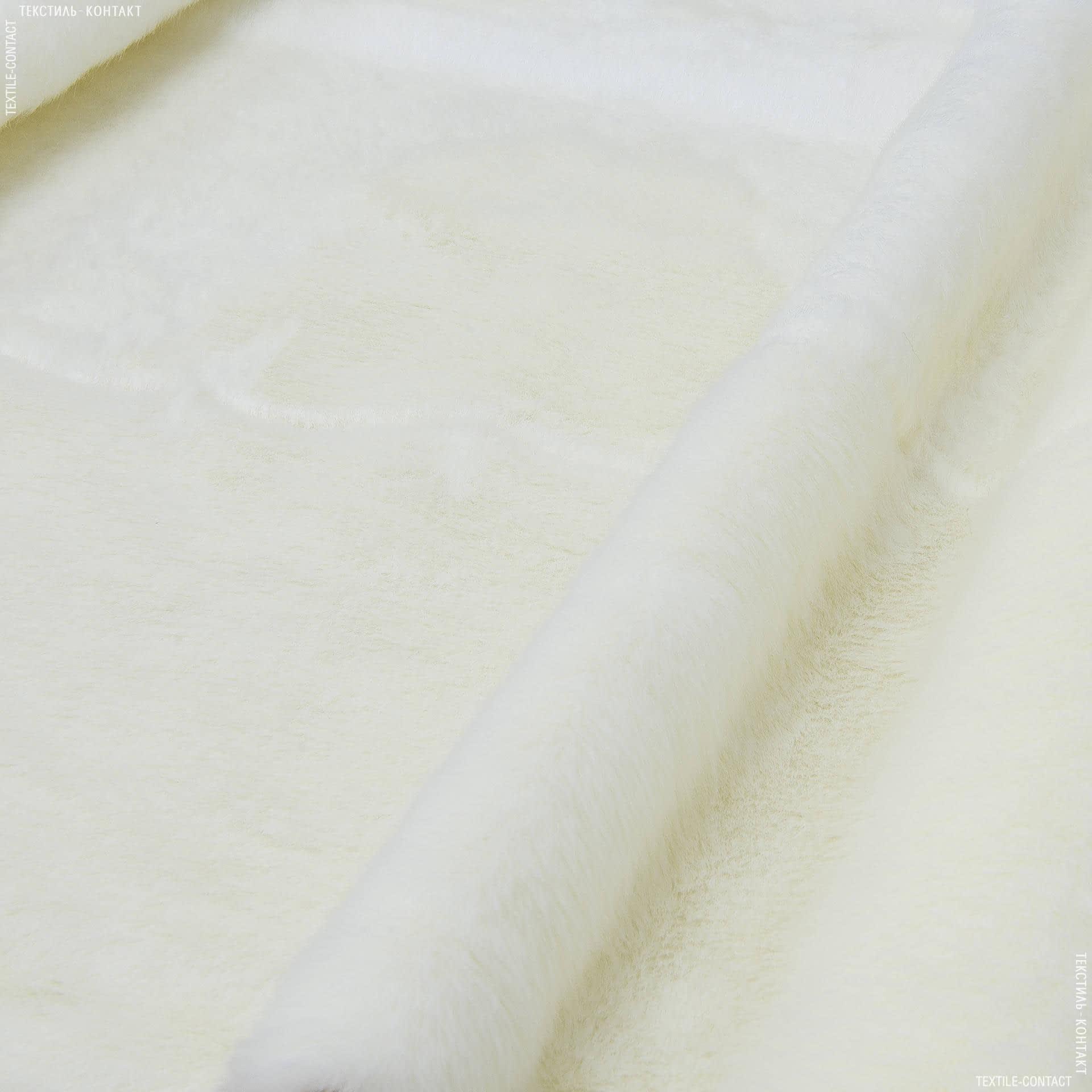 Тканини для верхнього одягу - Хутро штучне норка білий