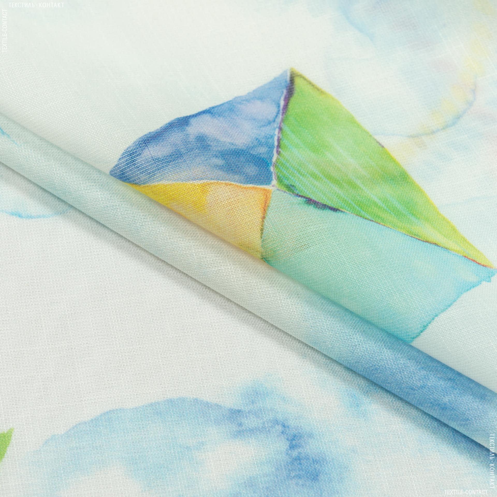 Тканини для тюлі - Тюль з обважнювачем кайт повітряні змії/kite/тон молочний купон