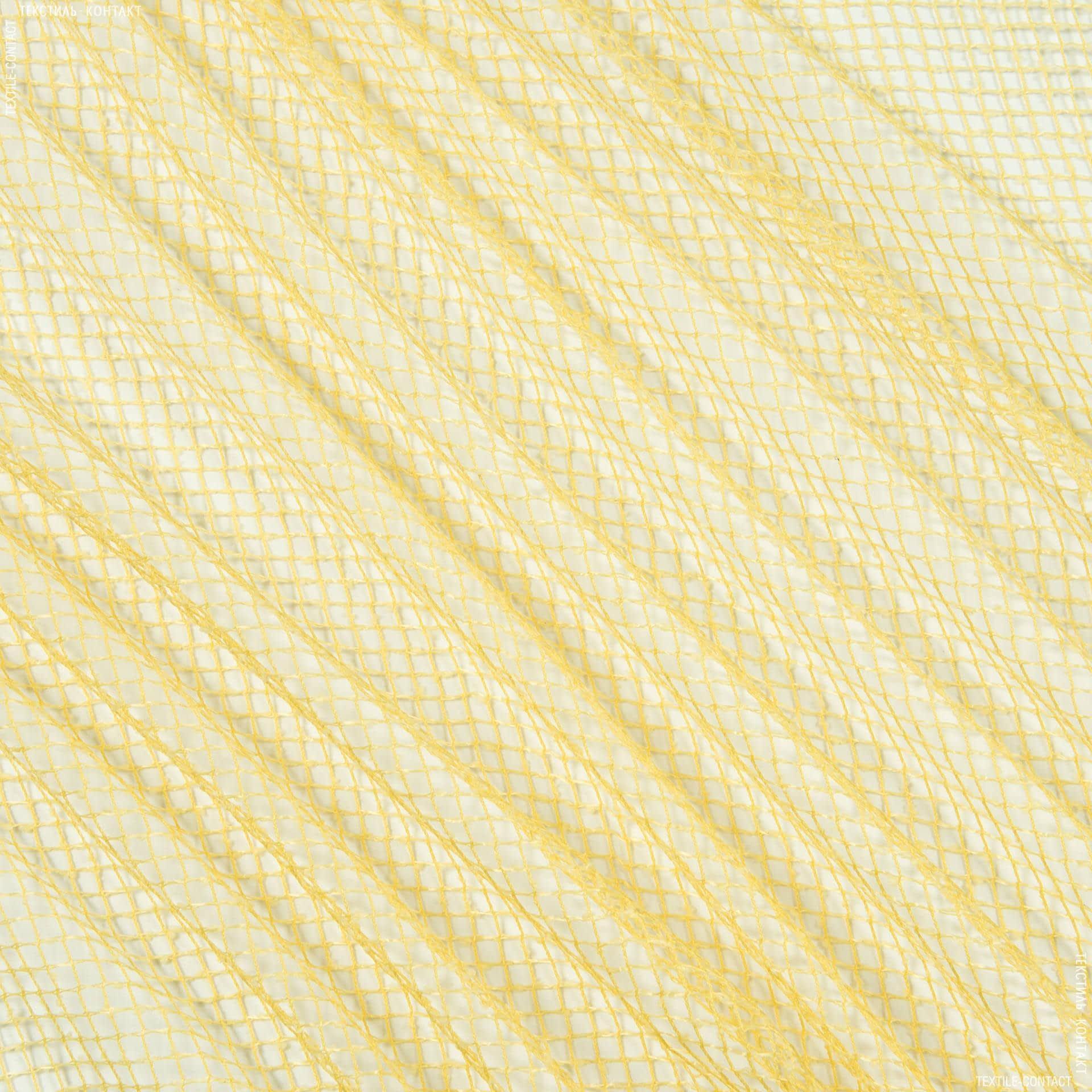 Ткани для драпировки стен и потолков - Тюль сетка элиза/  желтый