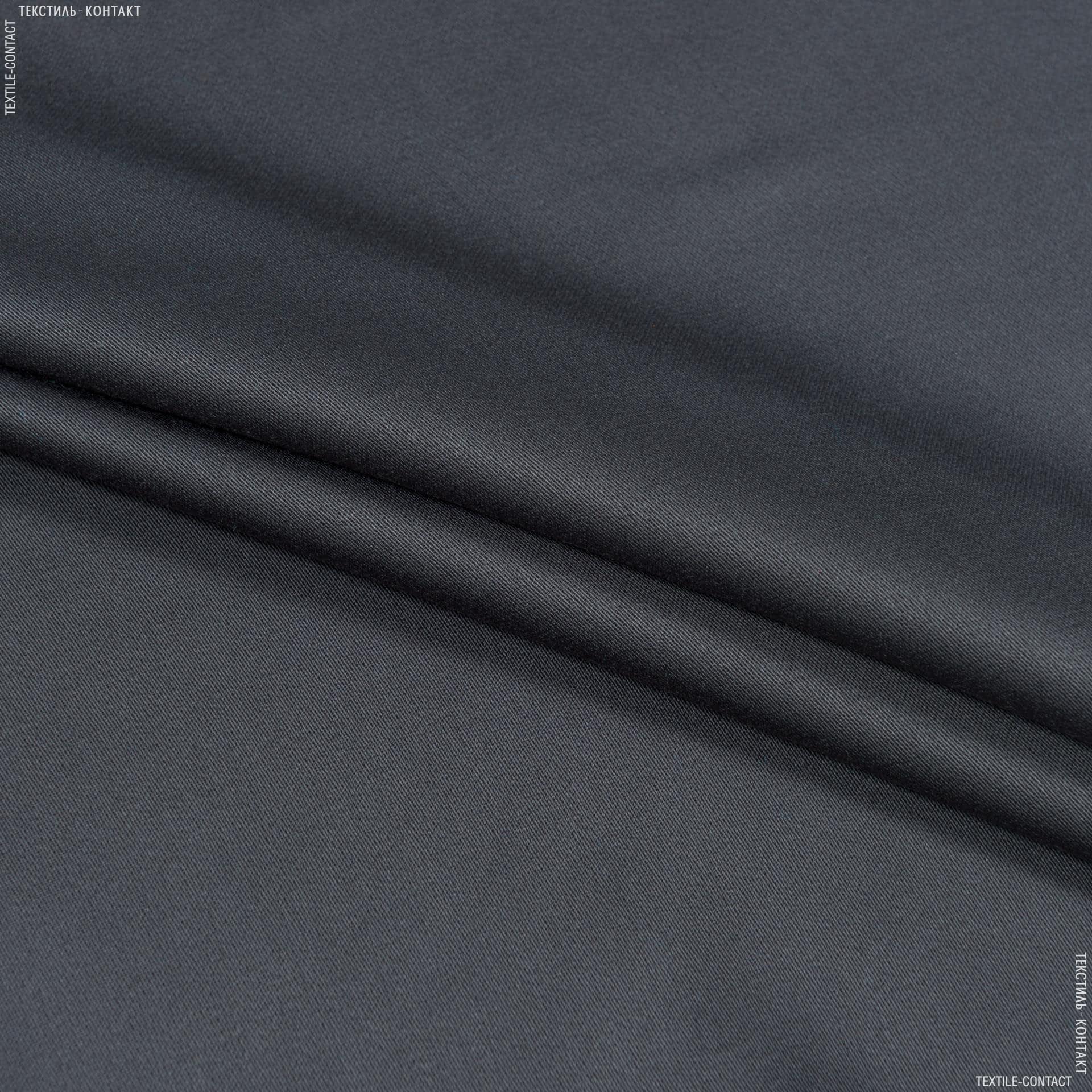Тканини для суконь - Костюмний сатин графітово-сірий