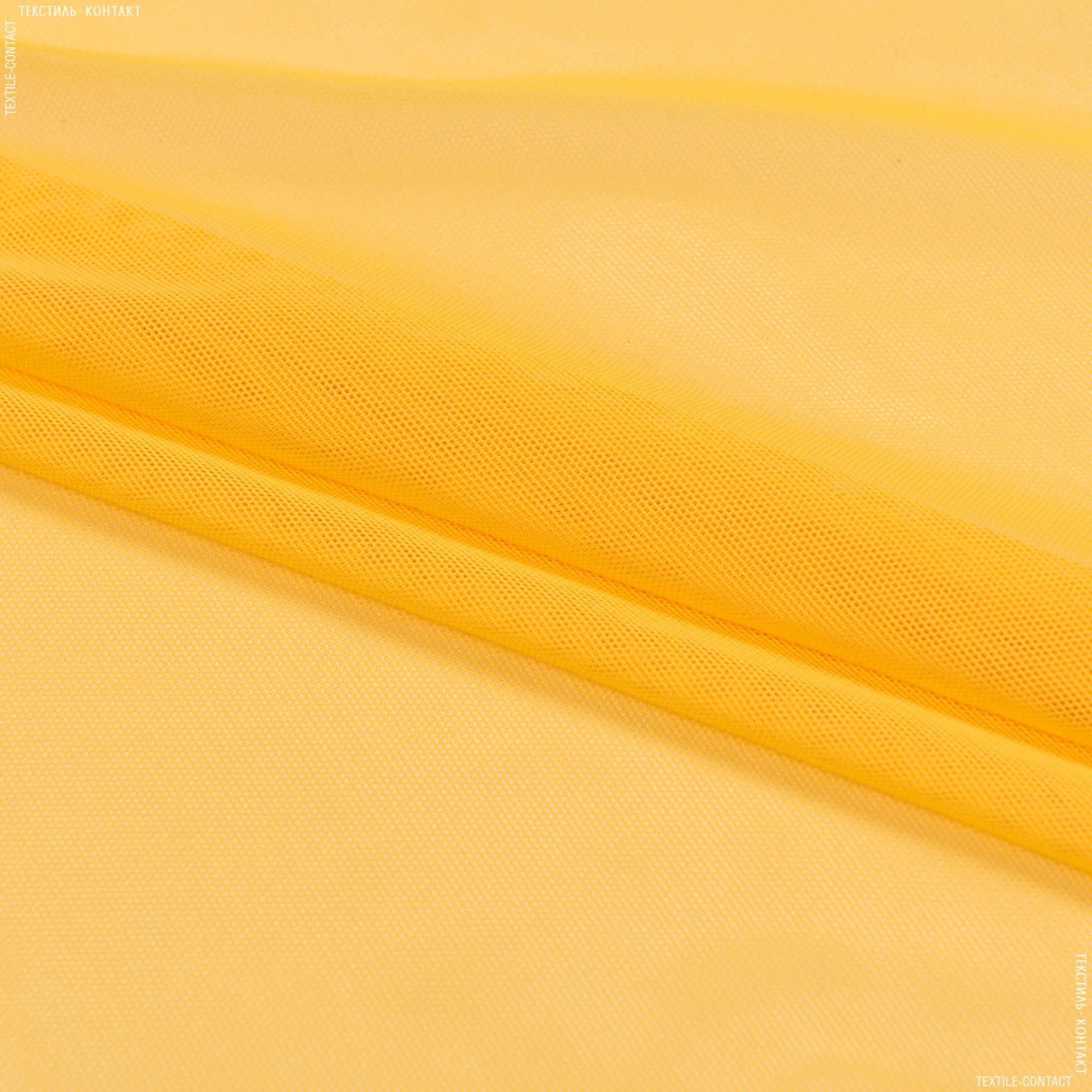 Тканини для спортивного одягу - Сітка стрейч темно-жовтий