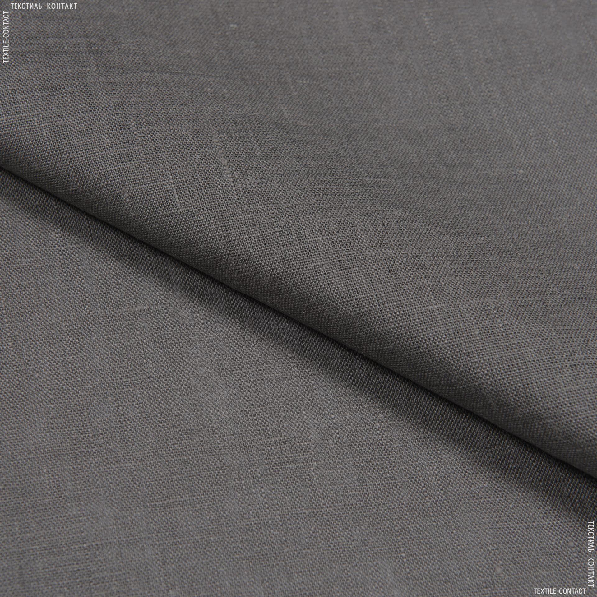 Ткани для платьев - Лен сорочечный умягченный серо-графитовый