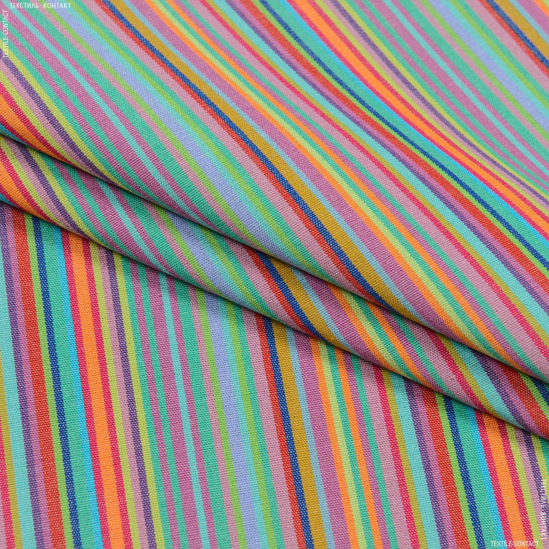 Ткани портьерные ткани - Дралон полоса  / мультиколор  FRBS1