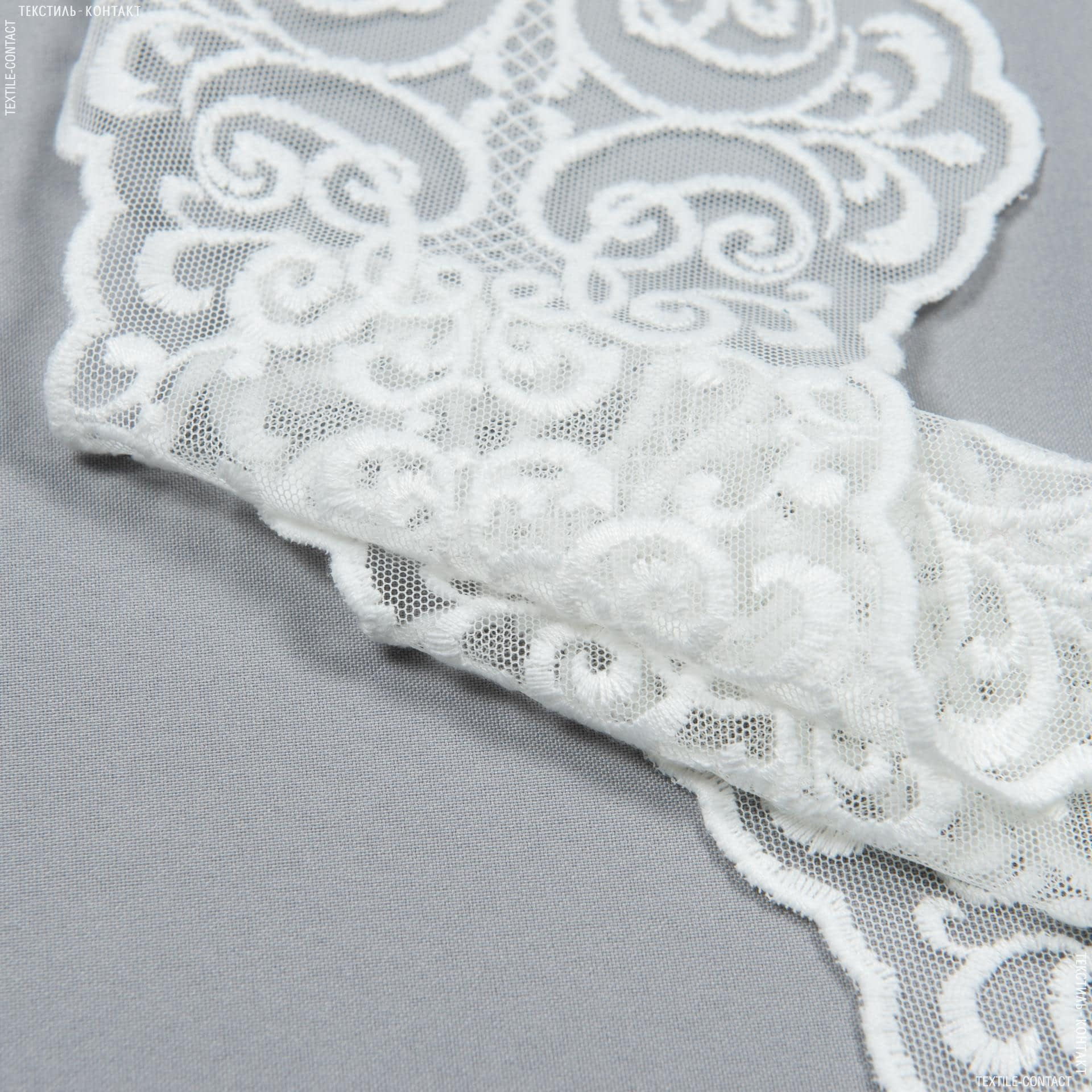 Ткани для пэчворка - Декоративное  кружево  ливия/ молочный 16 см