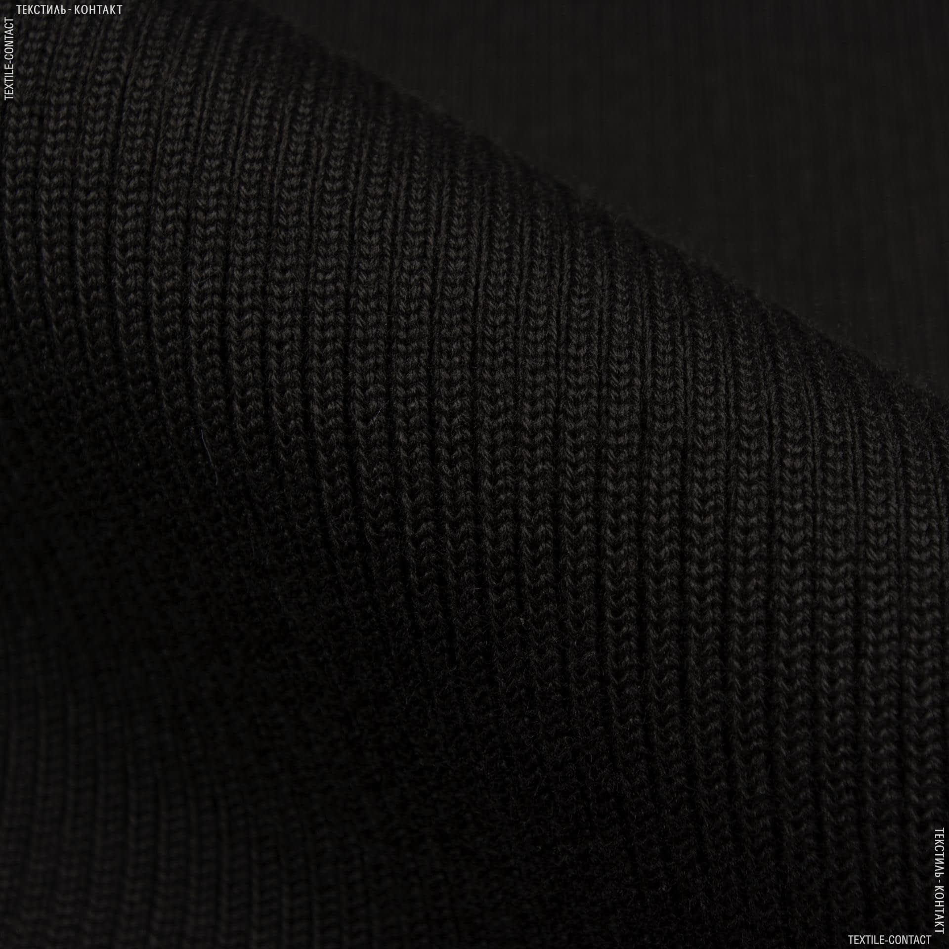 Тканини ластичні - Ластік-манжет 2х2  40см х 2 коричневий