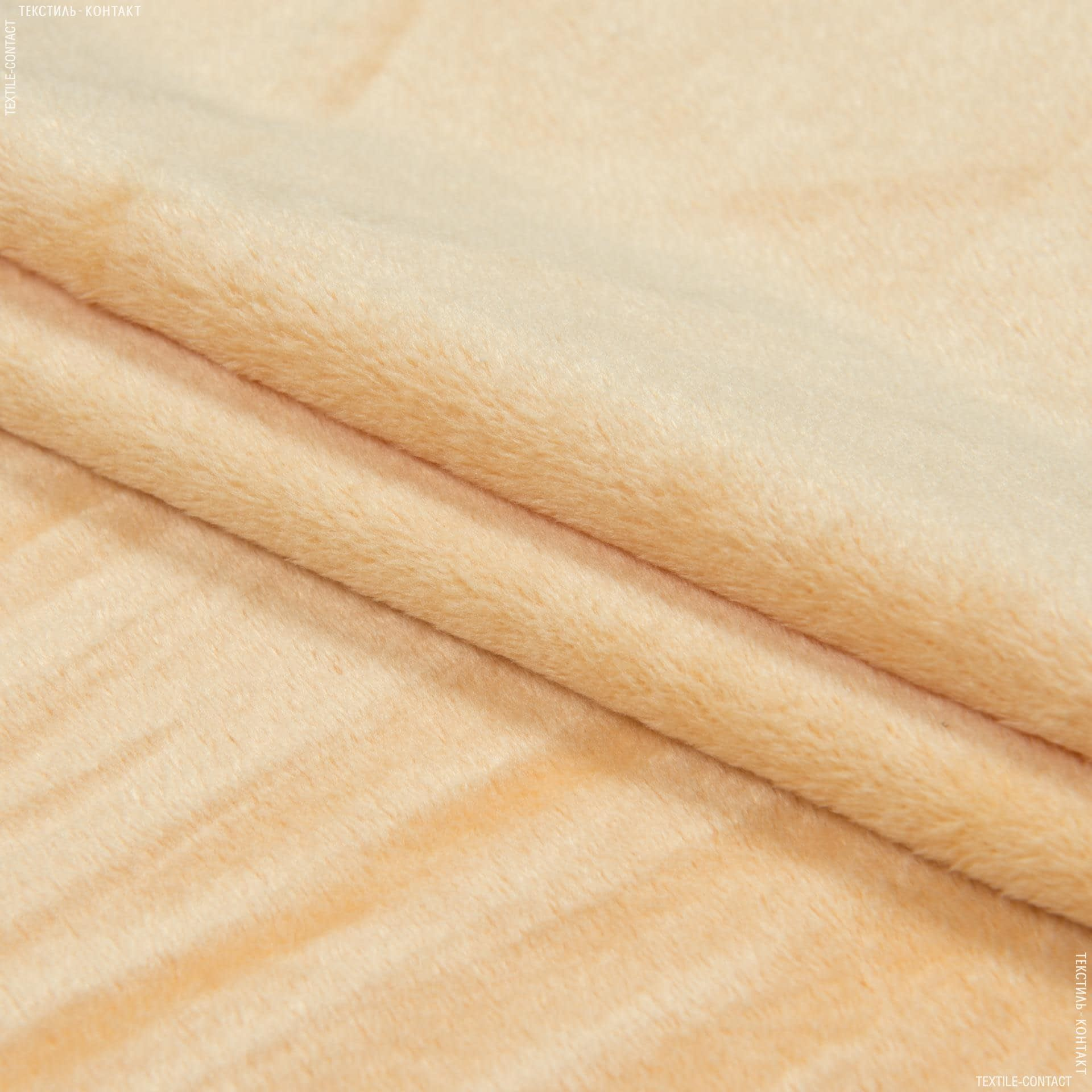 Ткани для верхней одежды - Плюш (вельбо) персиковый