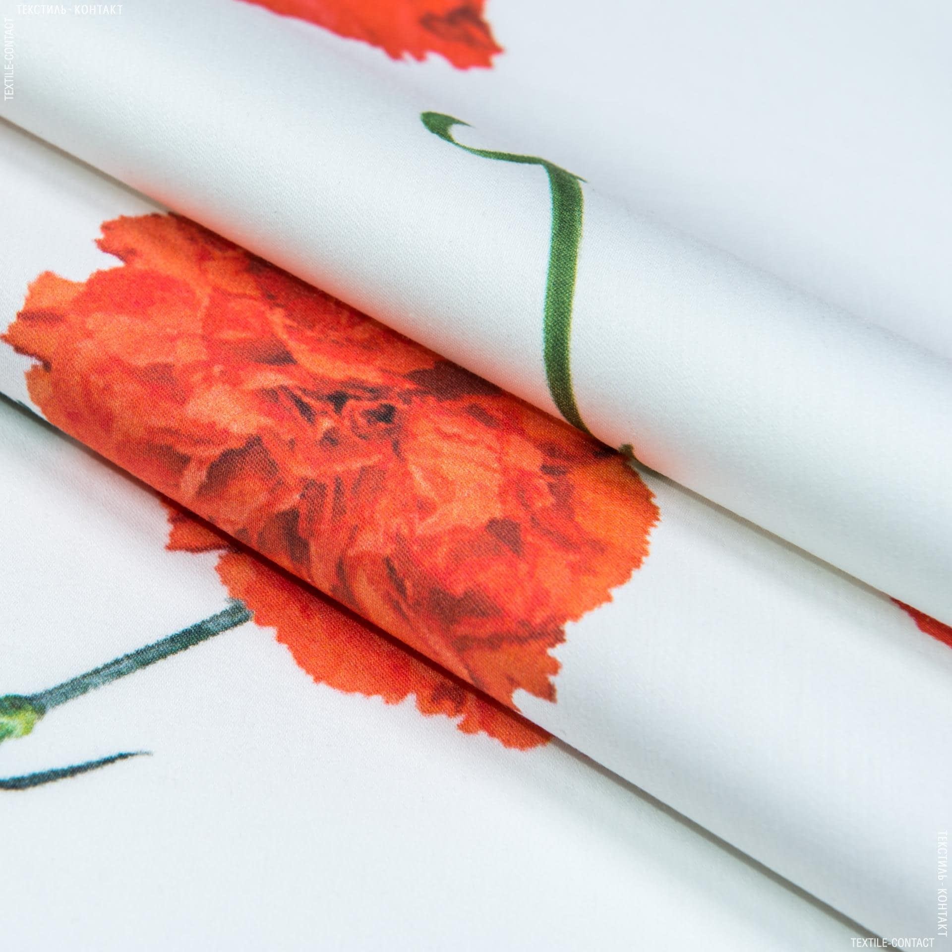 Ткани для платьев - Коттон стрейч нейлон принт