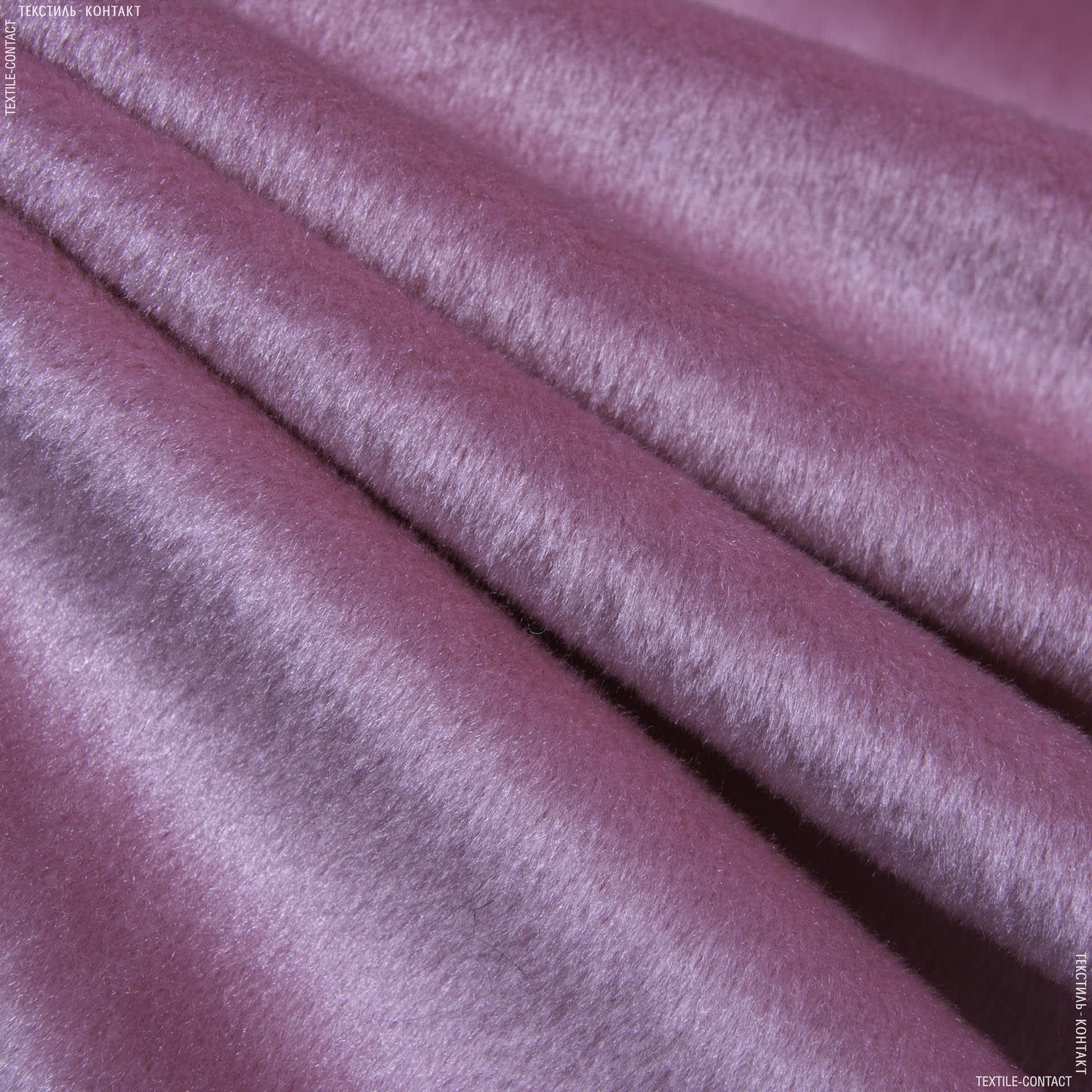 Ткани для мягких игрушек - Велюр темно-розовый