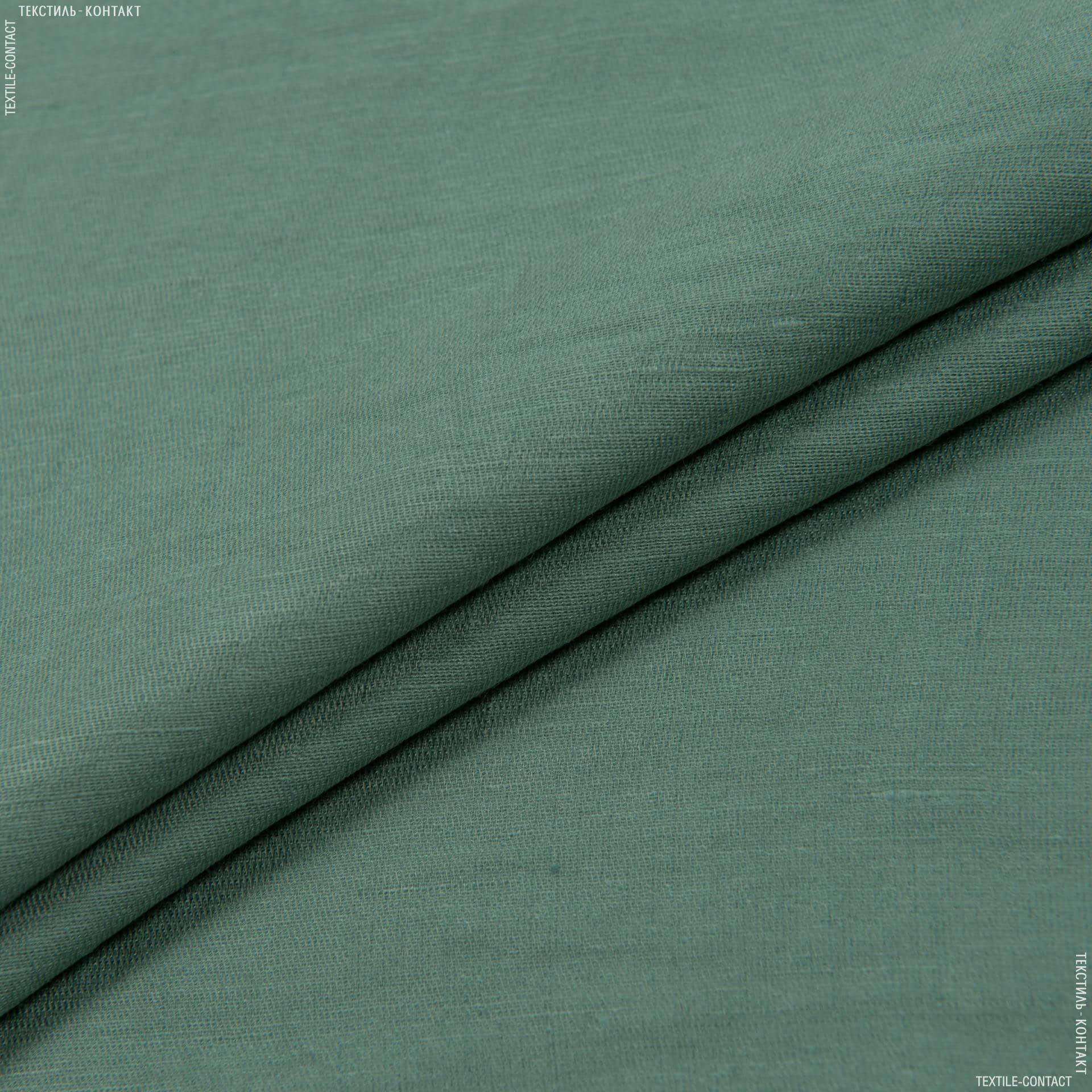 Ткани для костюмов - Плательный дикий лен никос изумрудный