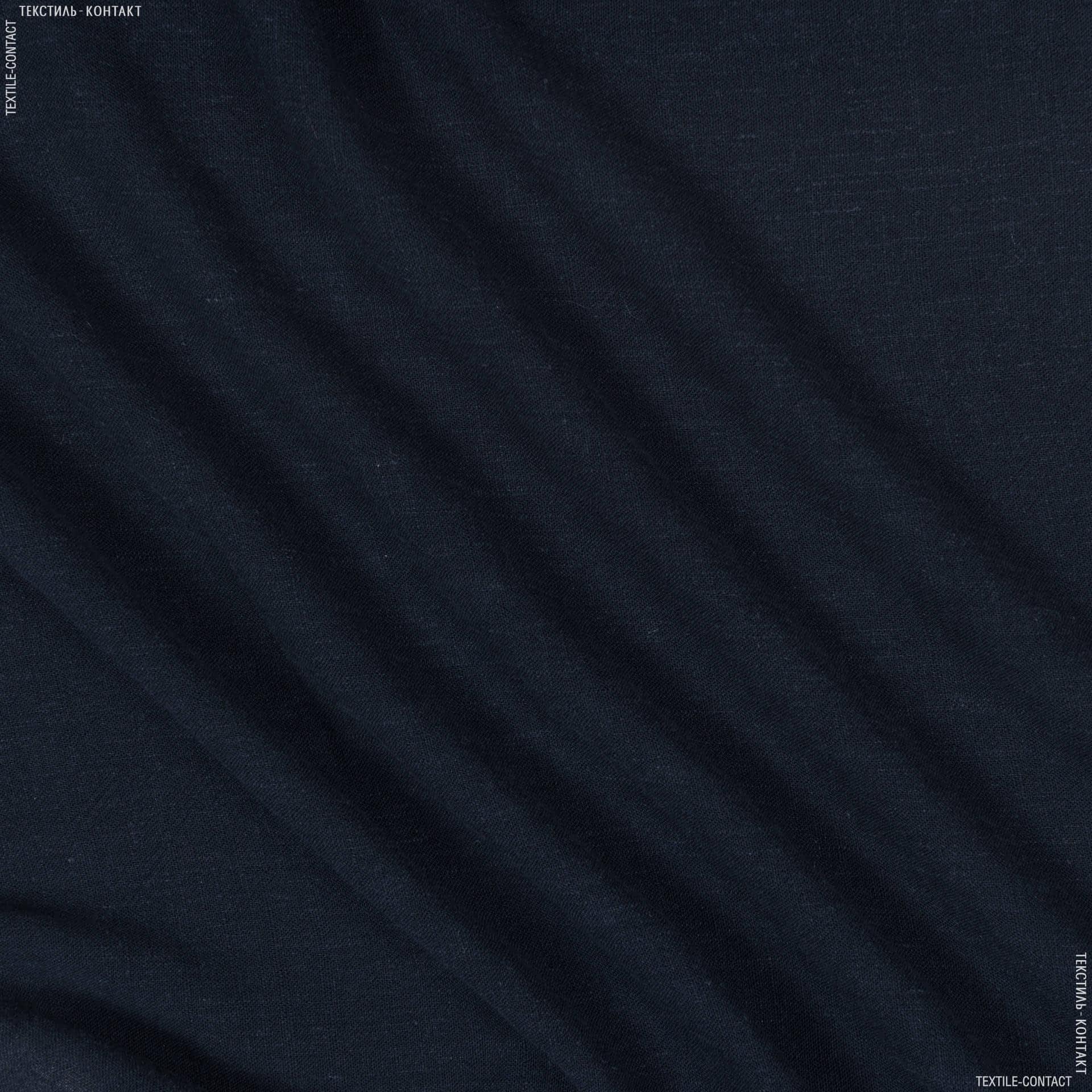 Тканини для штанів - Льон-котон темно-синій