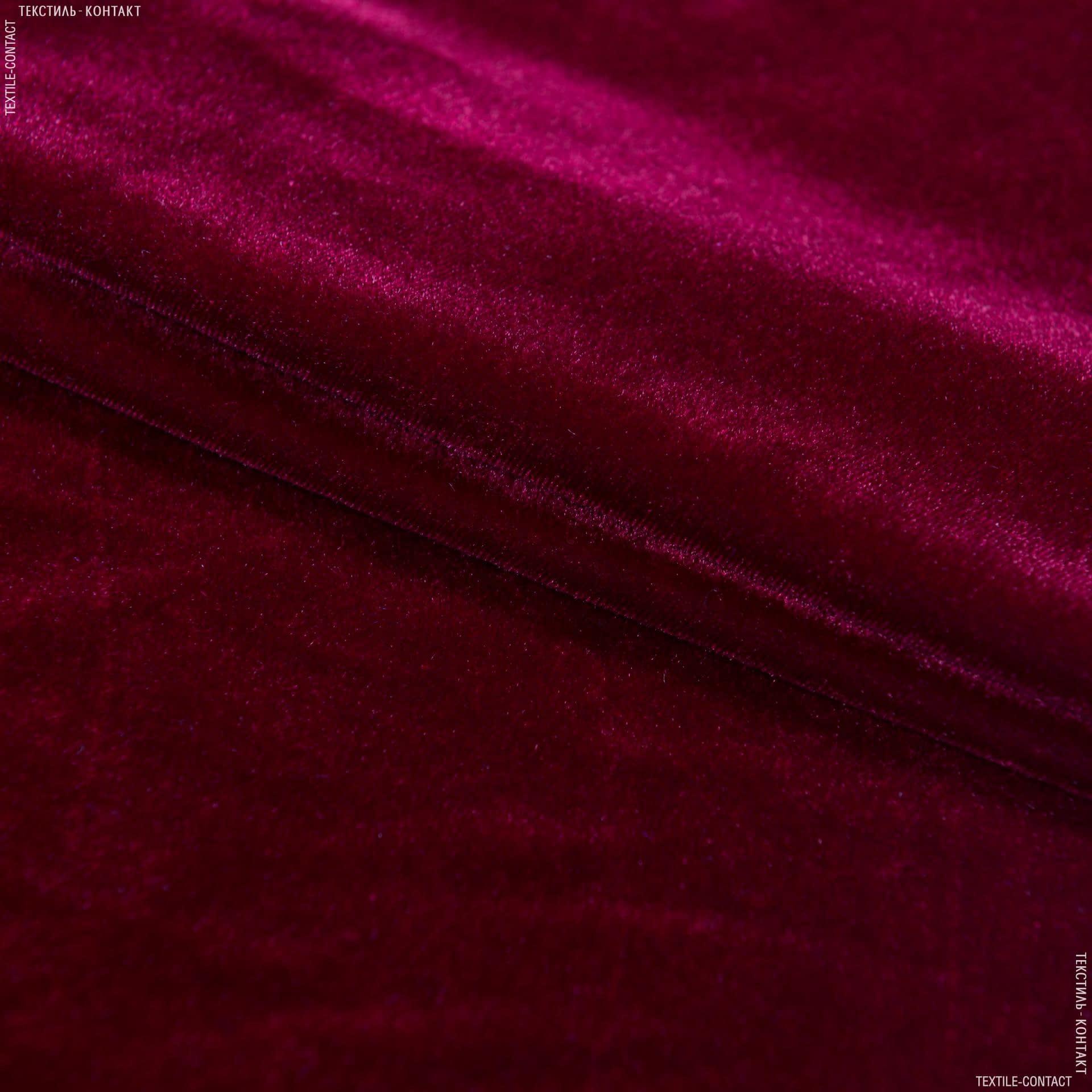 Тканини для костюмів - Оксамит стрейч бордовий
