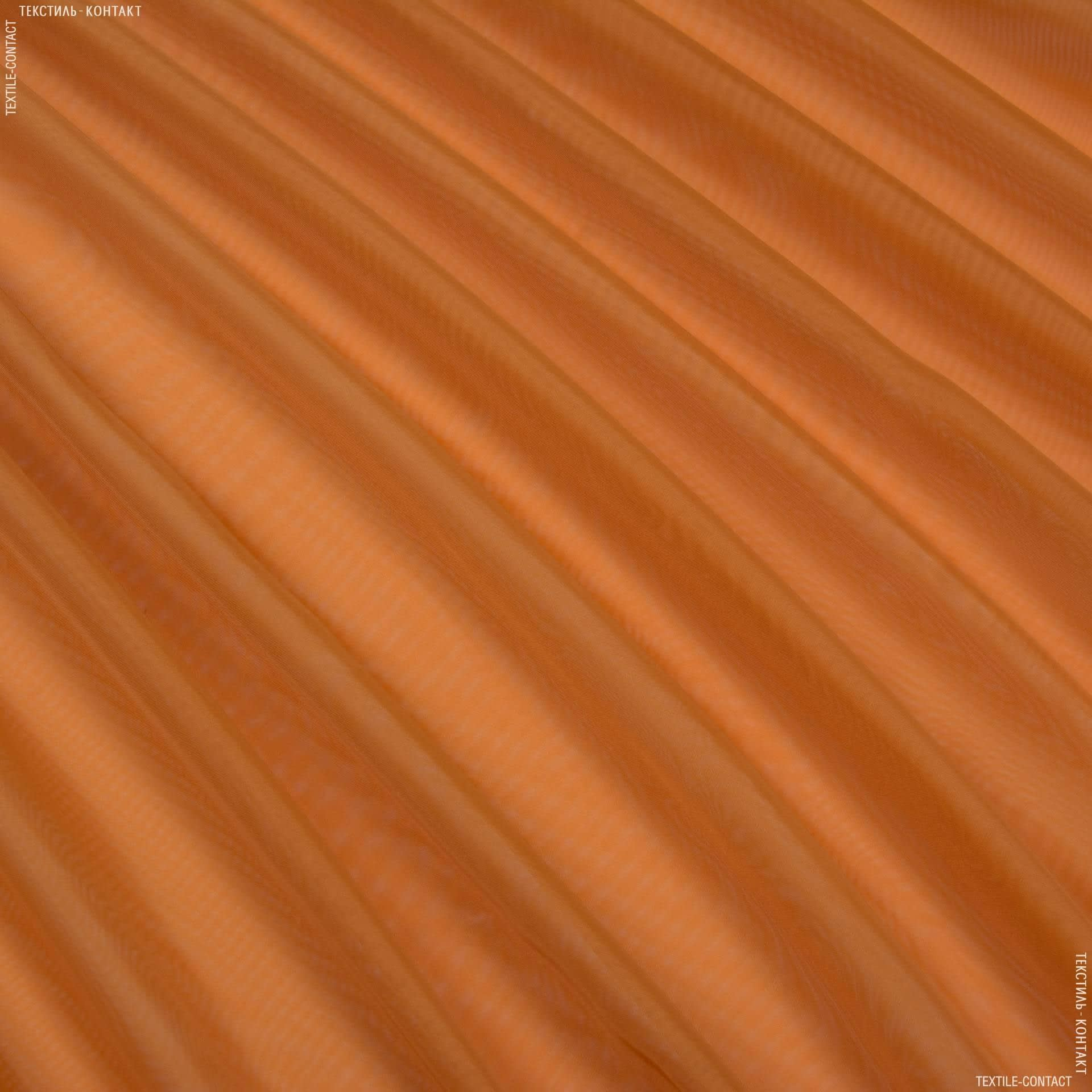 Тканини гардинні тканини - Тюль вуаль охра