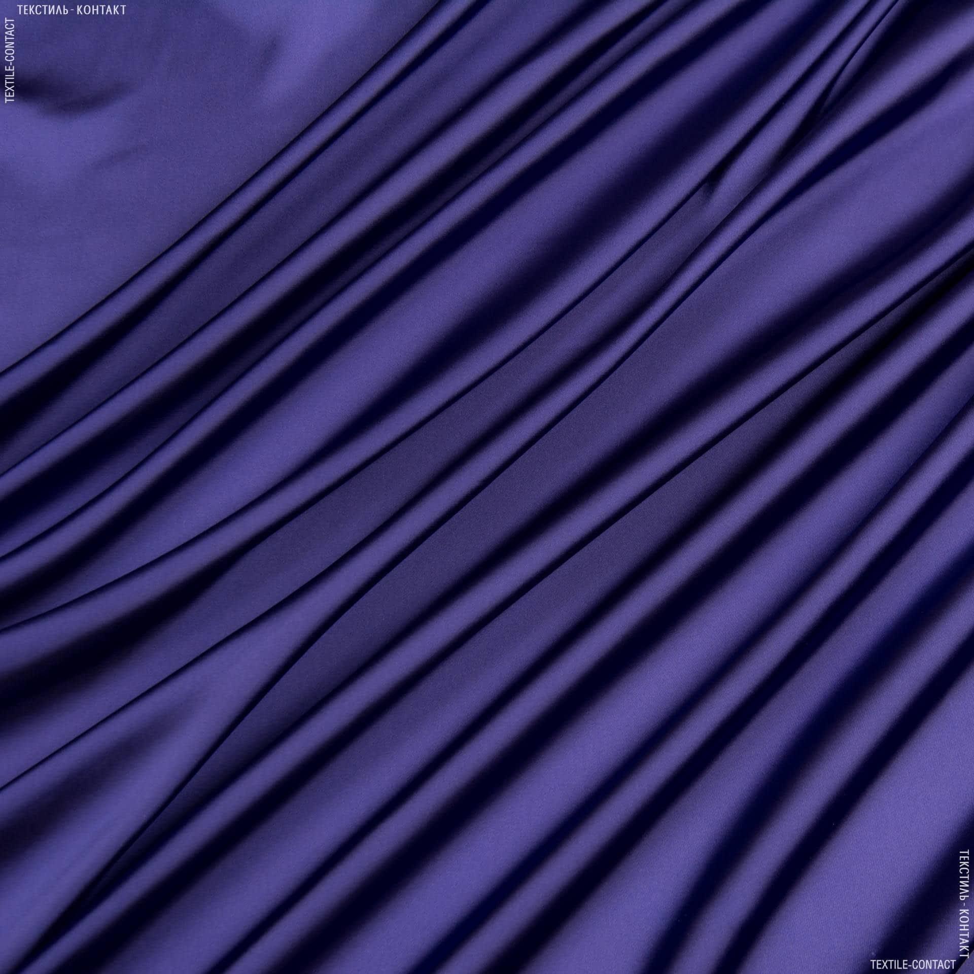 Ткани для платьев - Шелк искусственный темный электрик