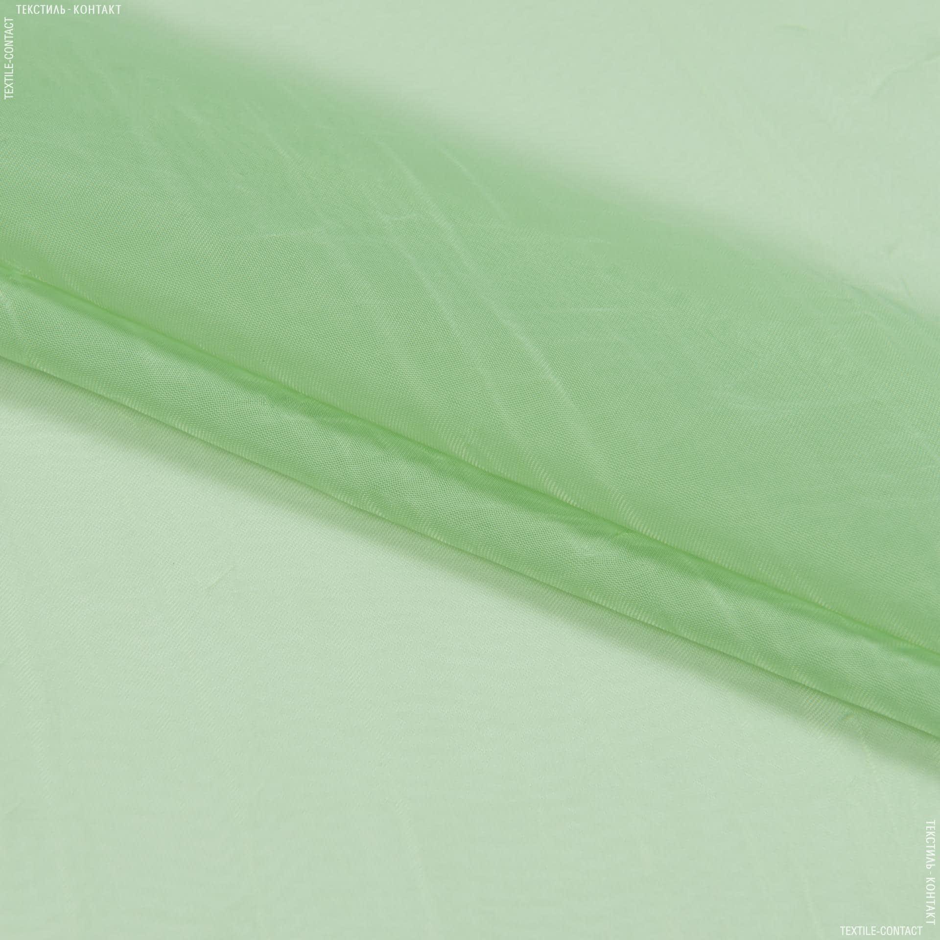 Ткани для драпировки стен и потолков - Тюль   вуаль креш с утяжелителем салатовый