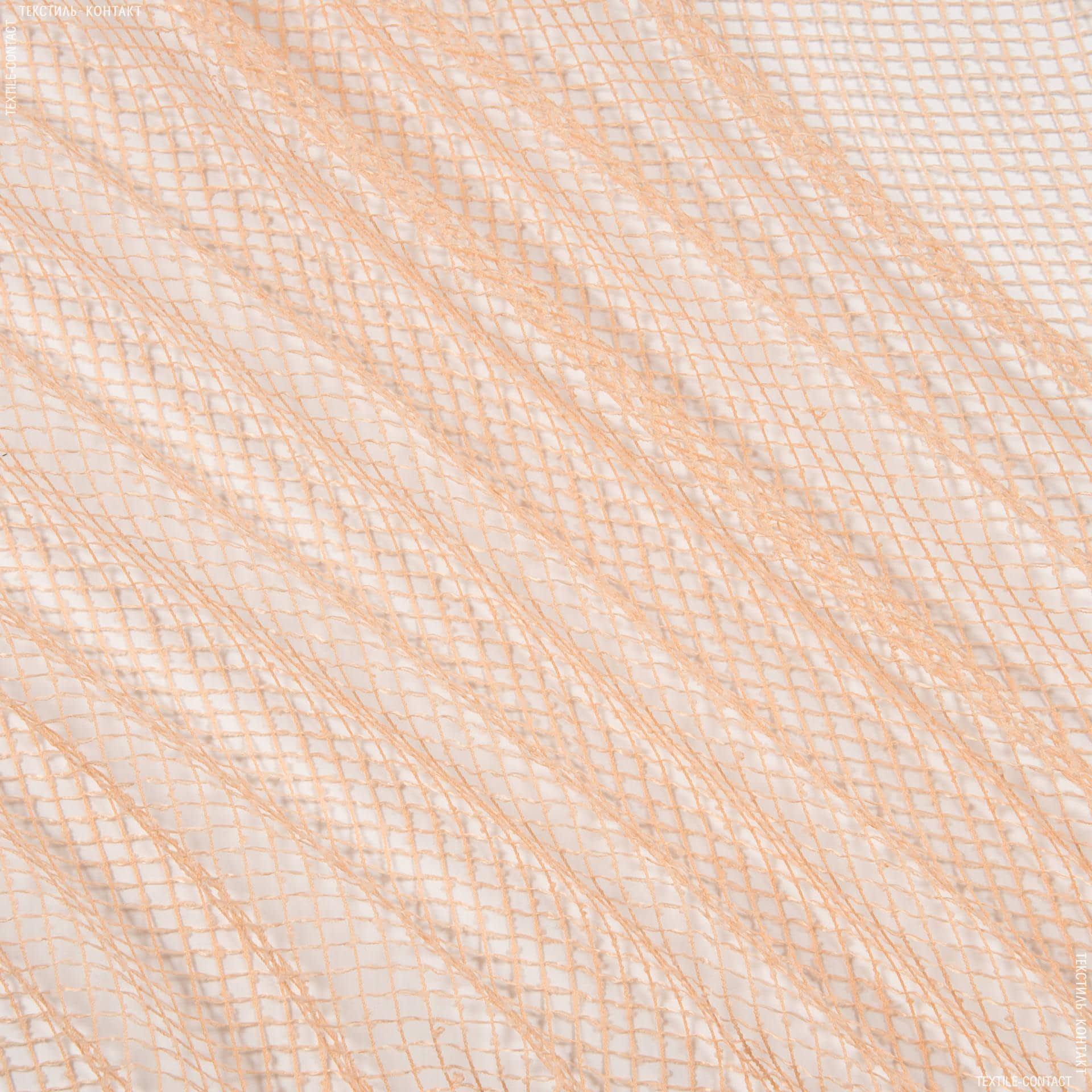 Ткани для драпировки стен и потолков - Тюль сетка  элиза/  чайная роза