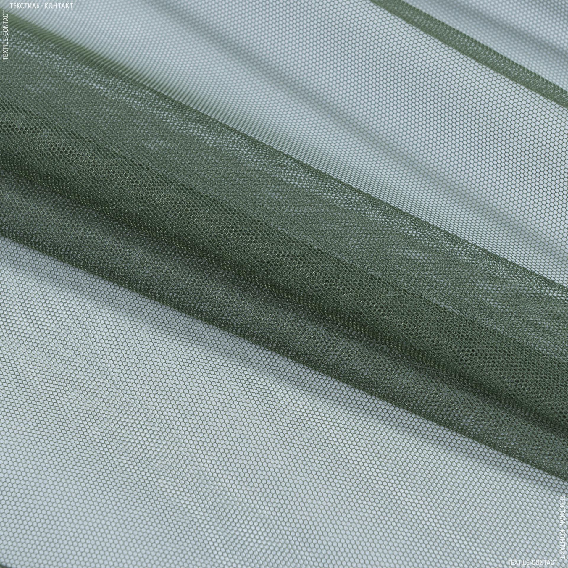 Тканини гардинні тканини - Тюль з обважнювачем сітка грек/grek / мох