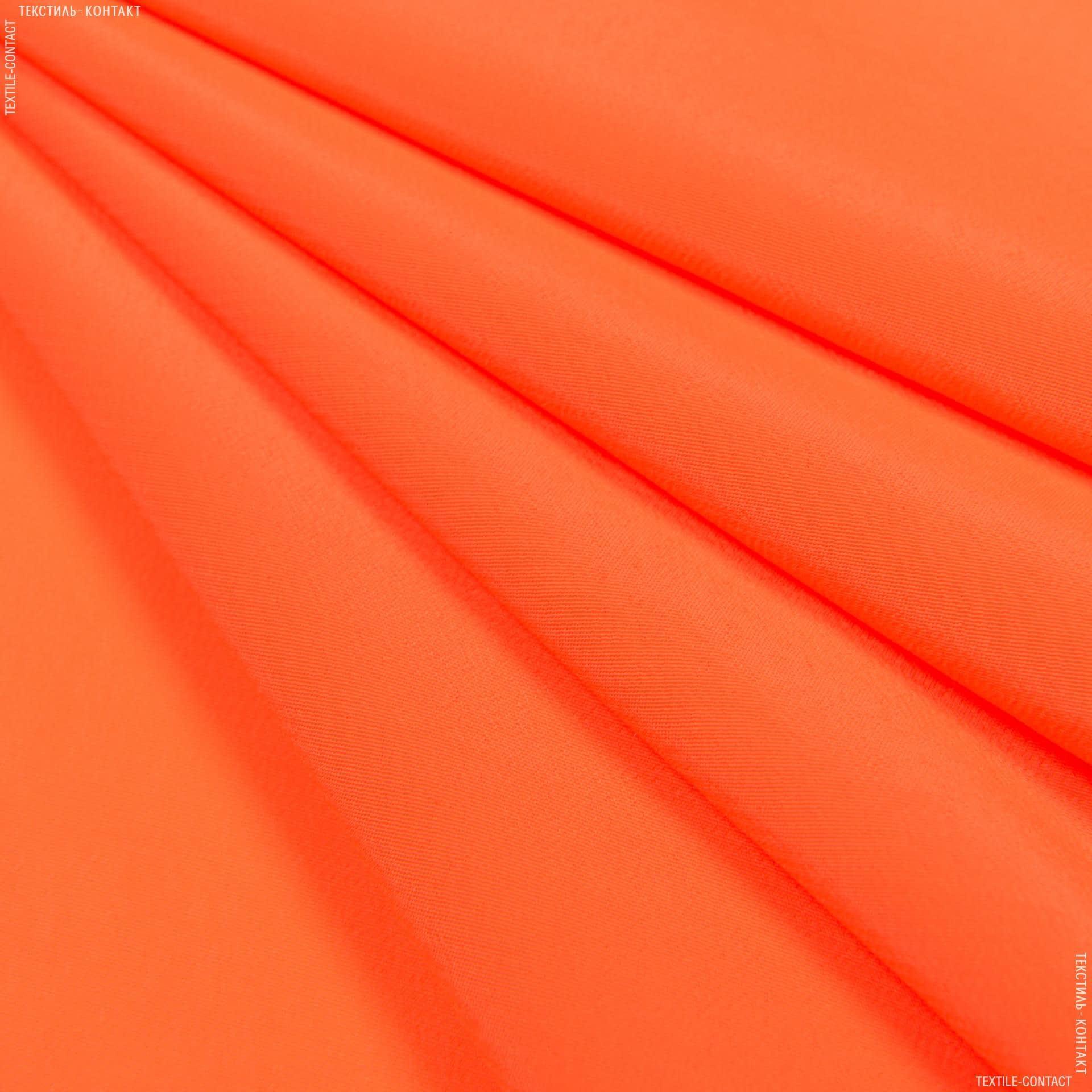 Тканини для хусток та бандан - Креп кошибо яскраво-помаранчевий