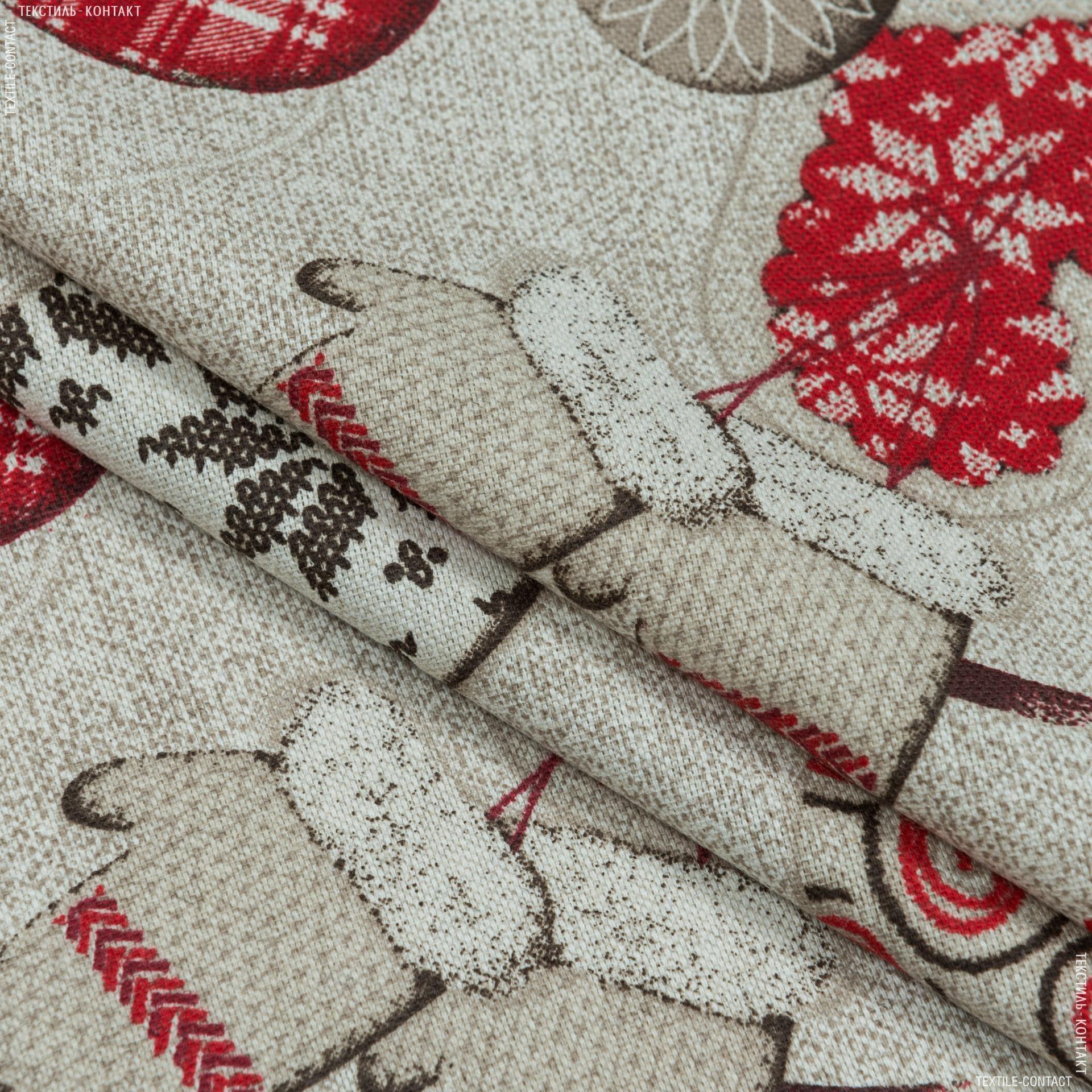 Тканини для декоративних подушок - Декоративна тканина новорічна/ andrews / ендрюс