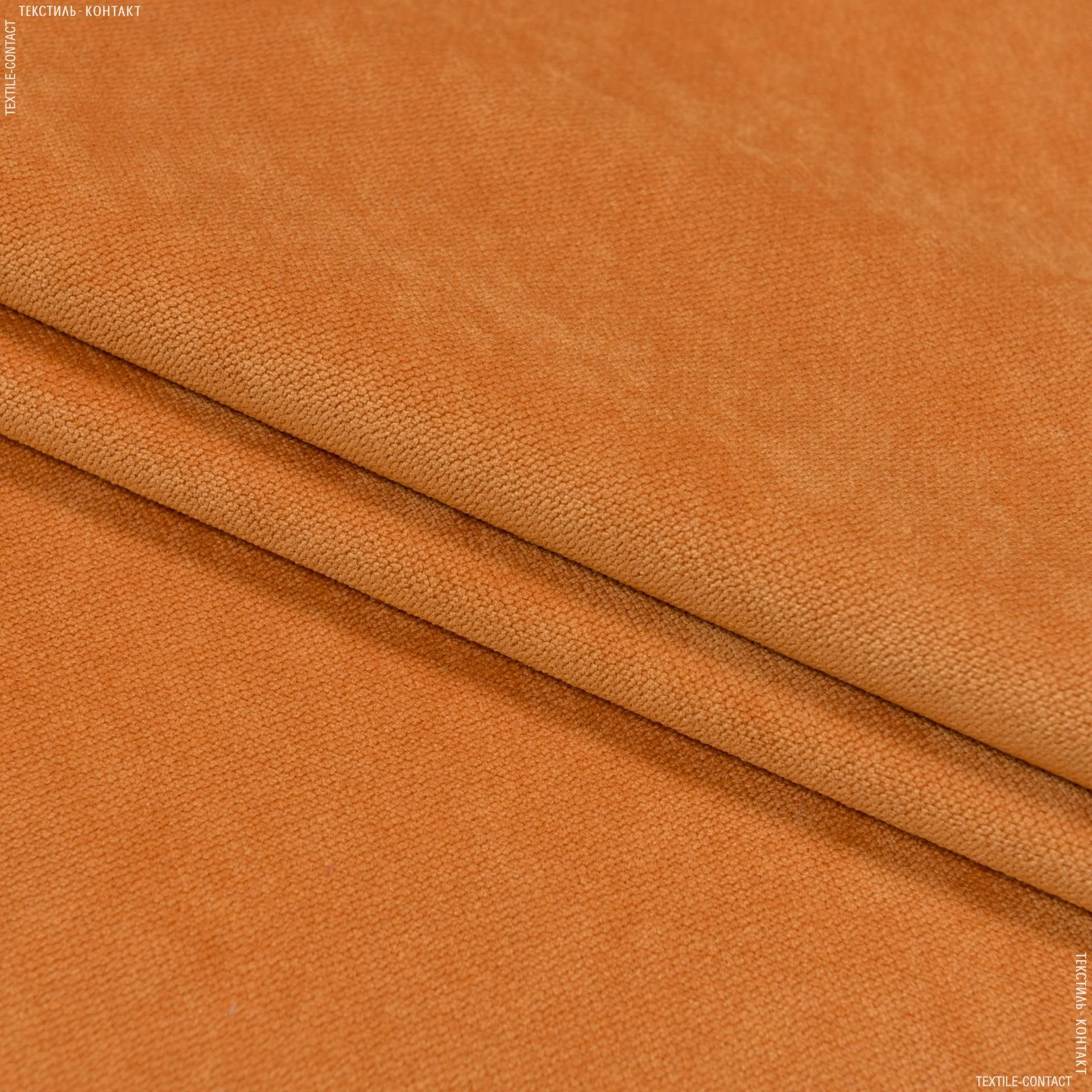 Ткани для мебели - Велюр будапешт/budapest оранжевый