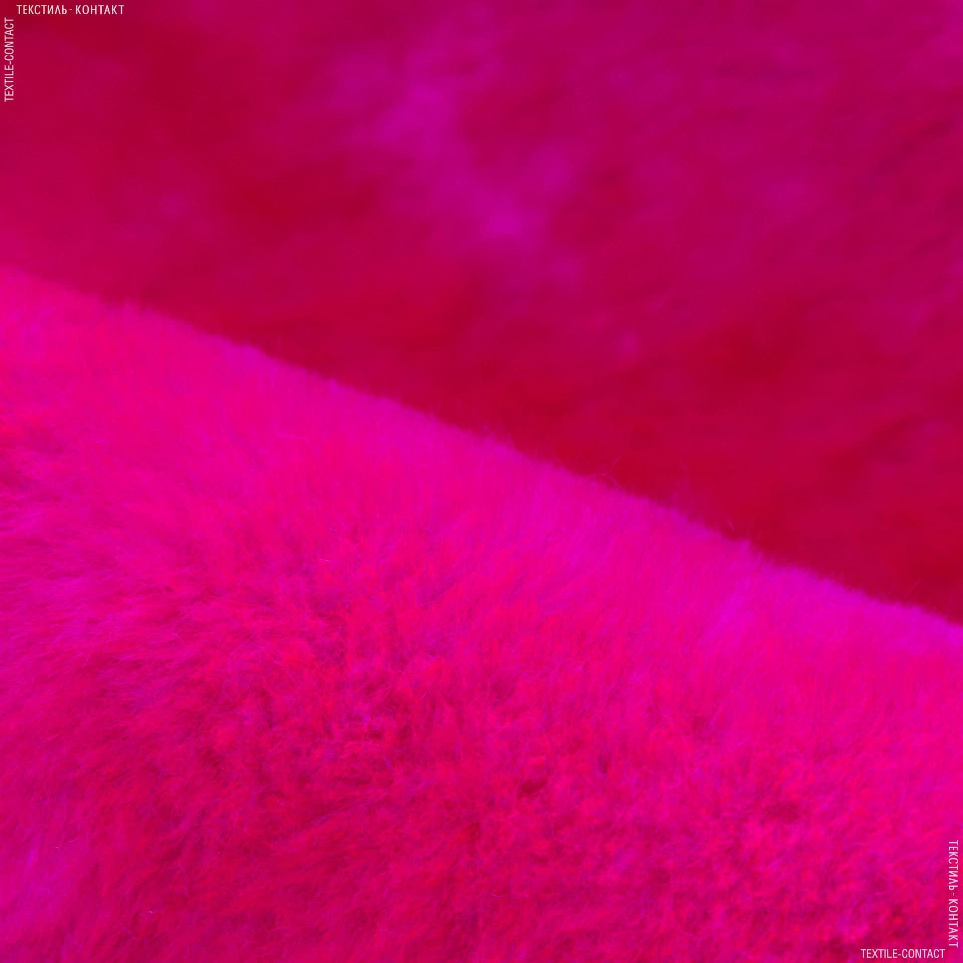 Тканини для м'яких іграшок - Хутро штучне підкладкове яскраво-червоний