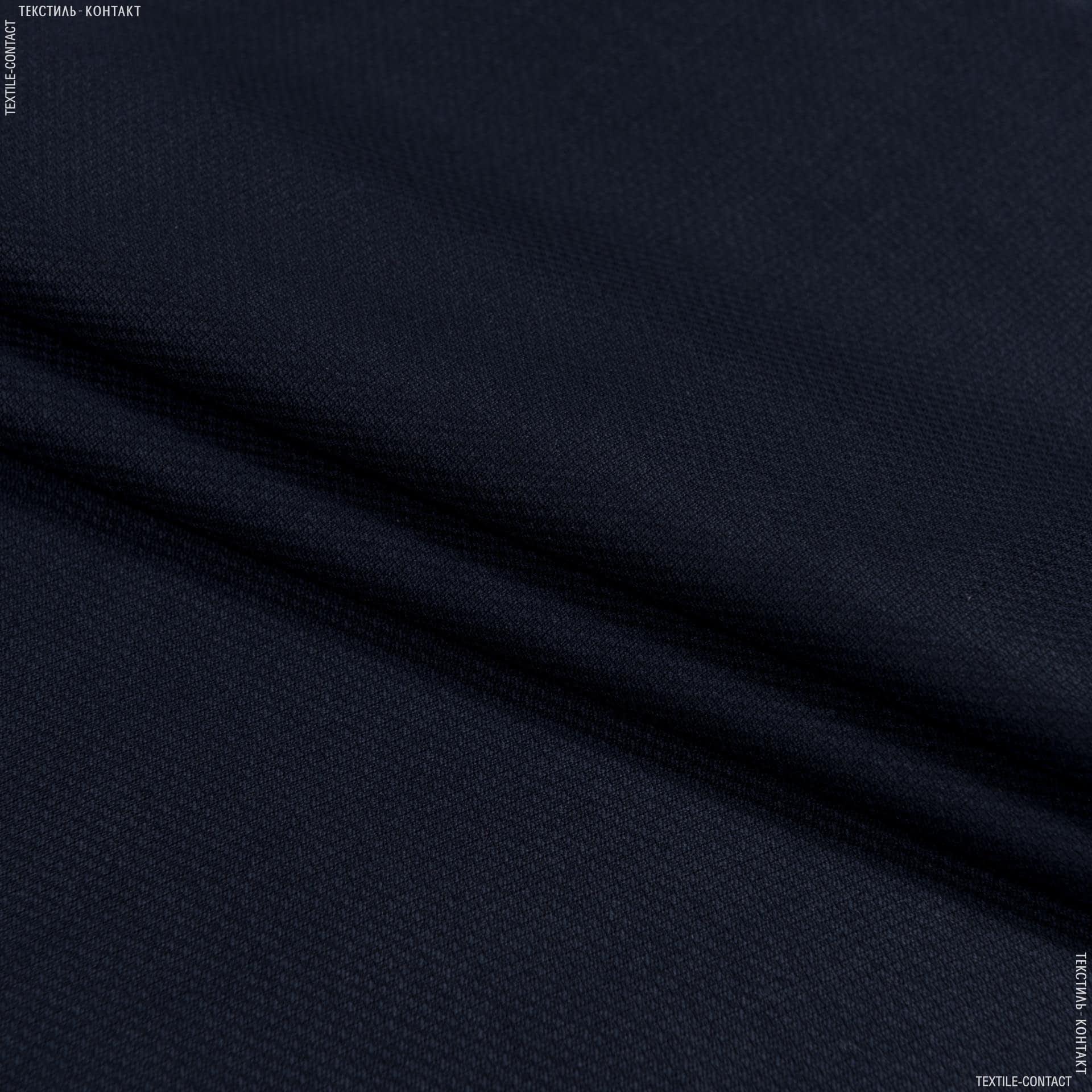 Тканини для костюмів - Костюмна піке темно-синій