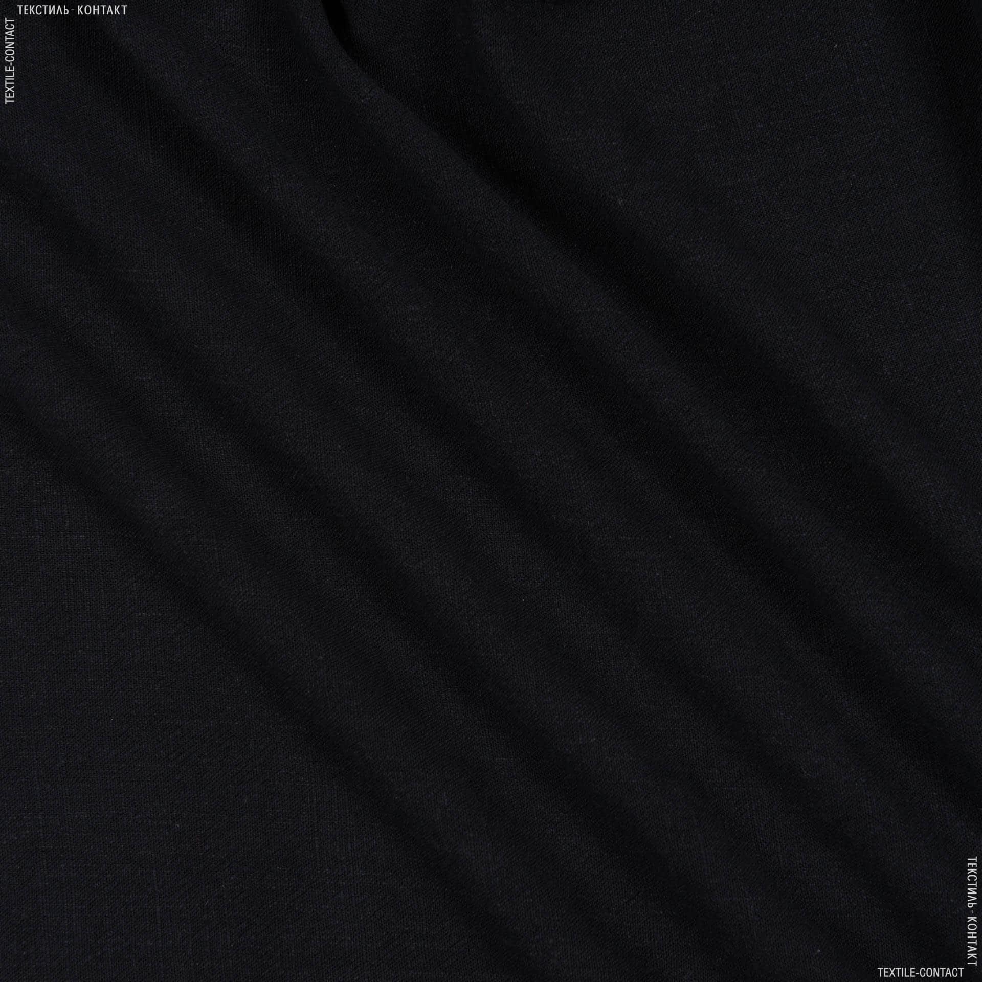 Тканини для штанів - Льон-котон чорний