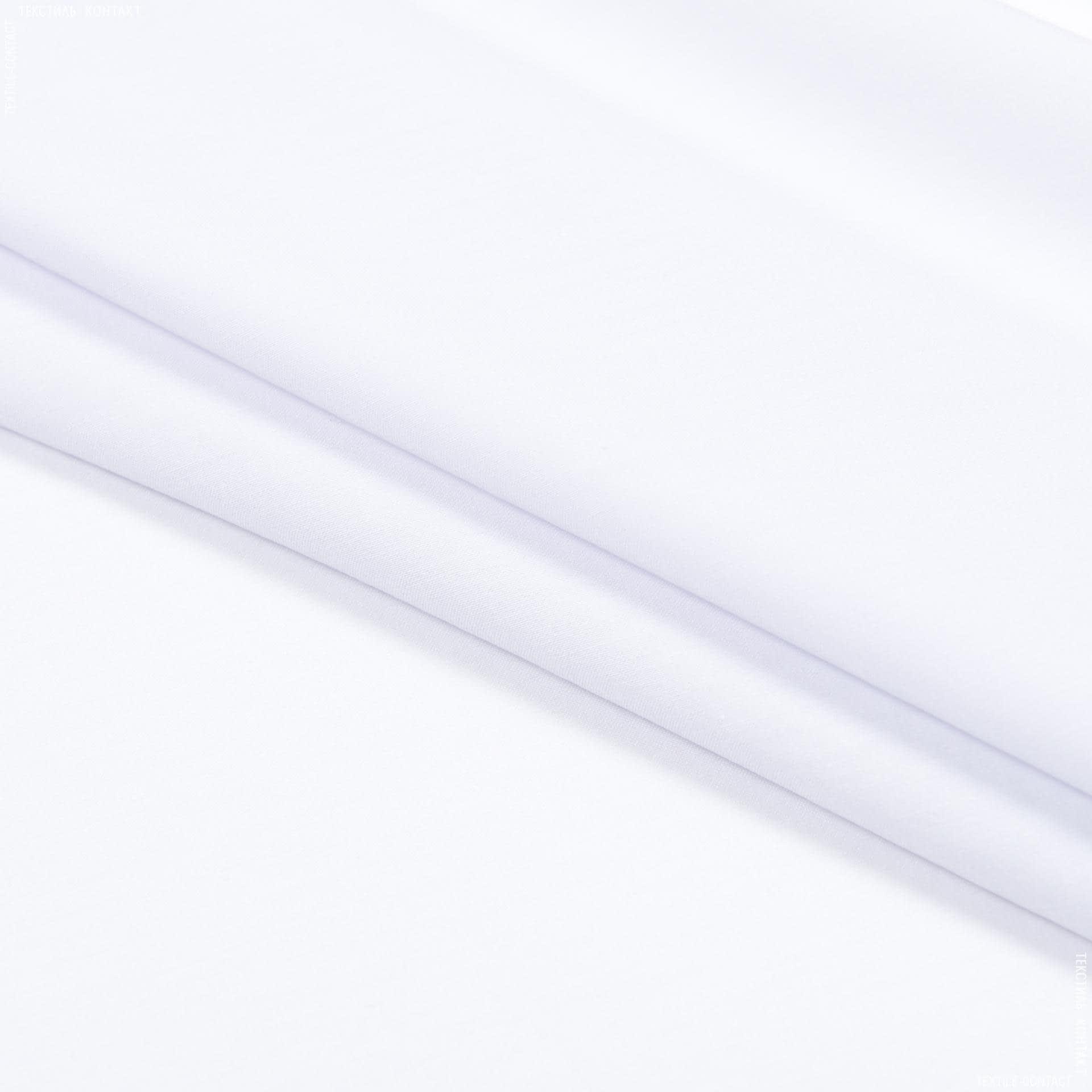 Тканини для суконь - Поплін стрейч білий
