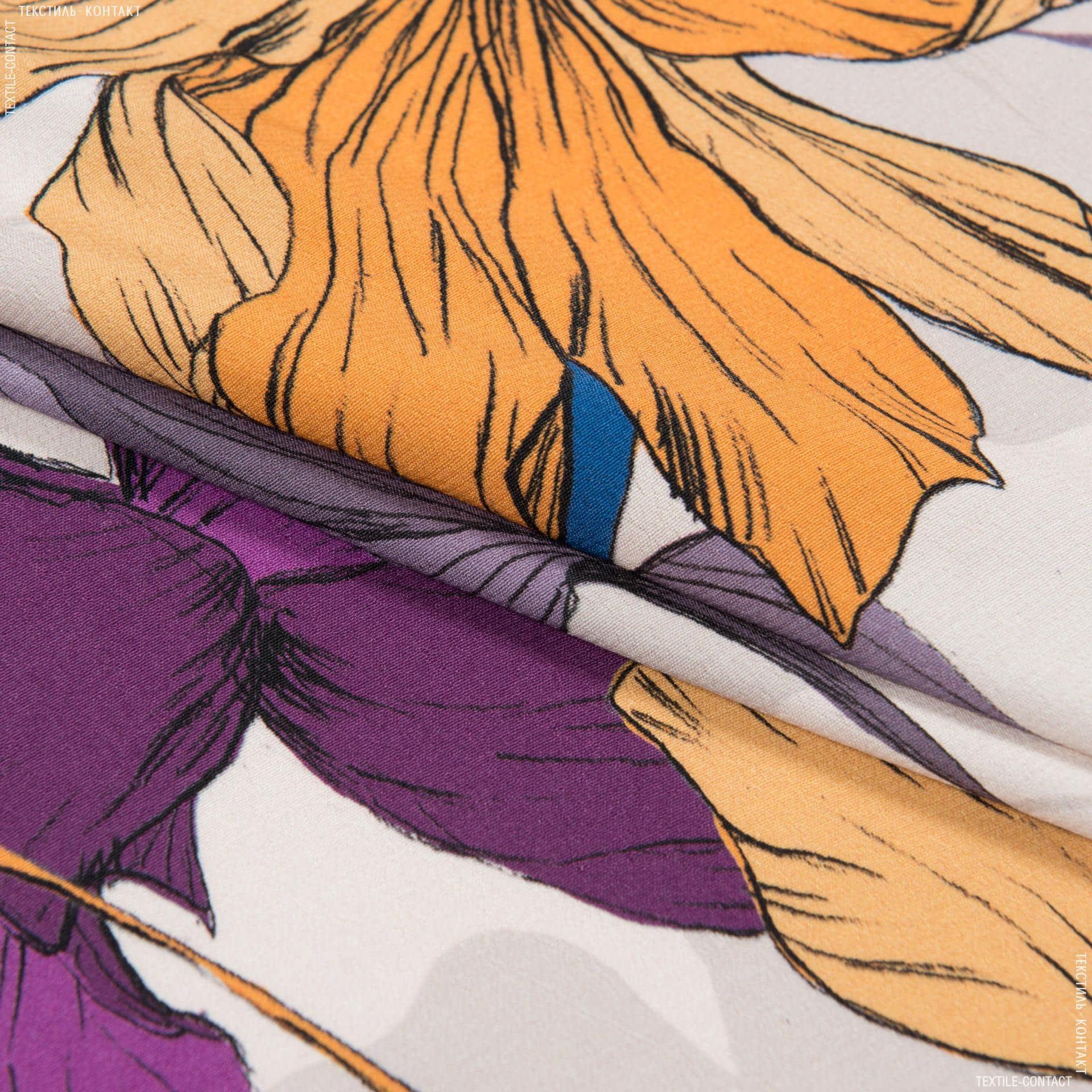 Ткани для платков и бандан - Плательный жоржет принт