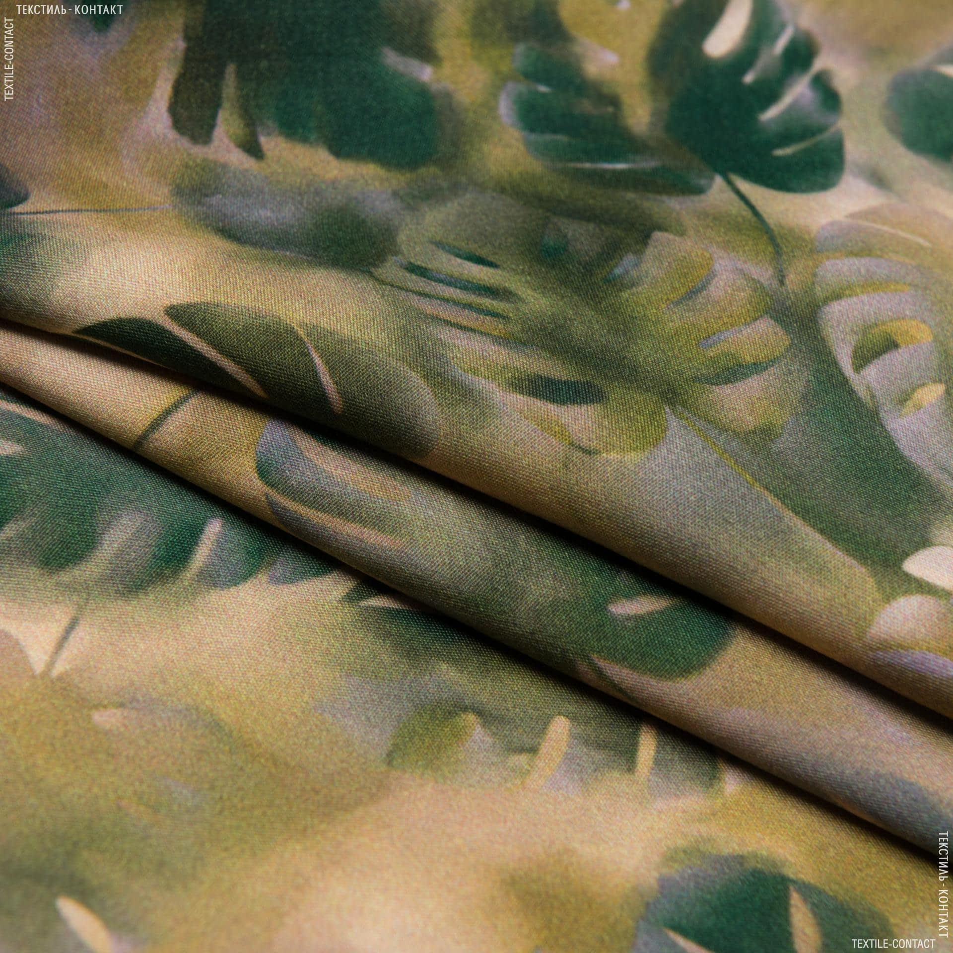 Тканини для суконь - Платтяна флош сатин принт