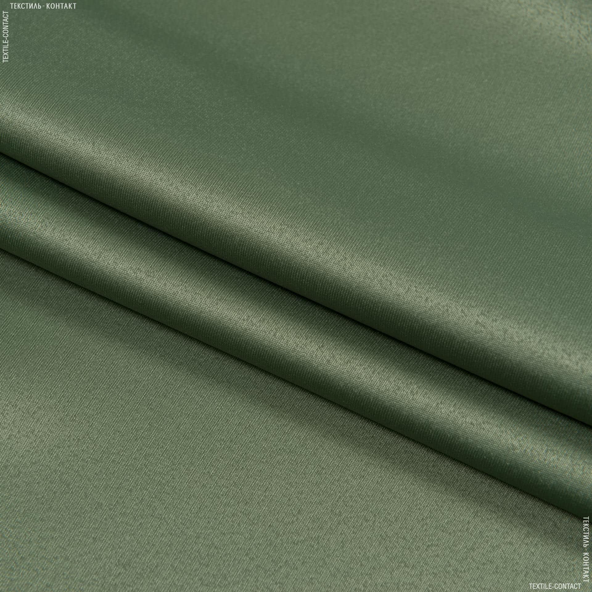 Ткани портьерные ткани - Декоративный  атлас дека/ deca /зеленая оливка