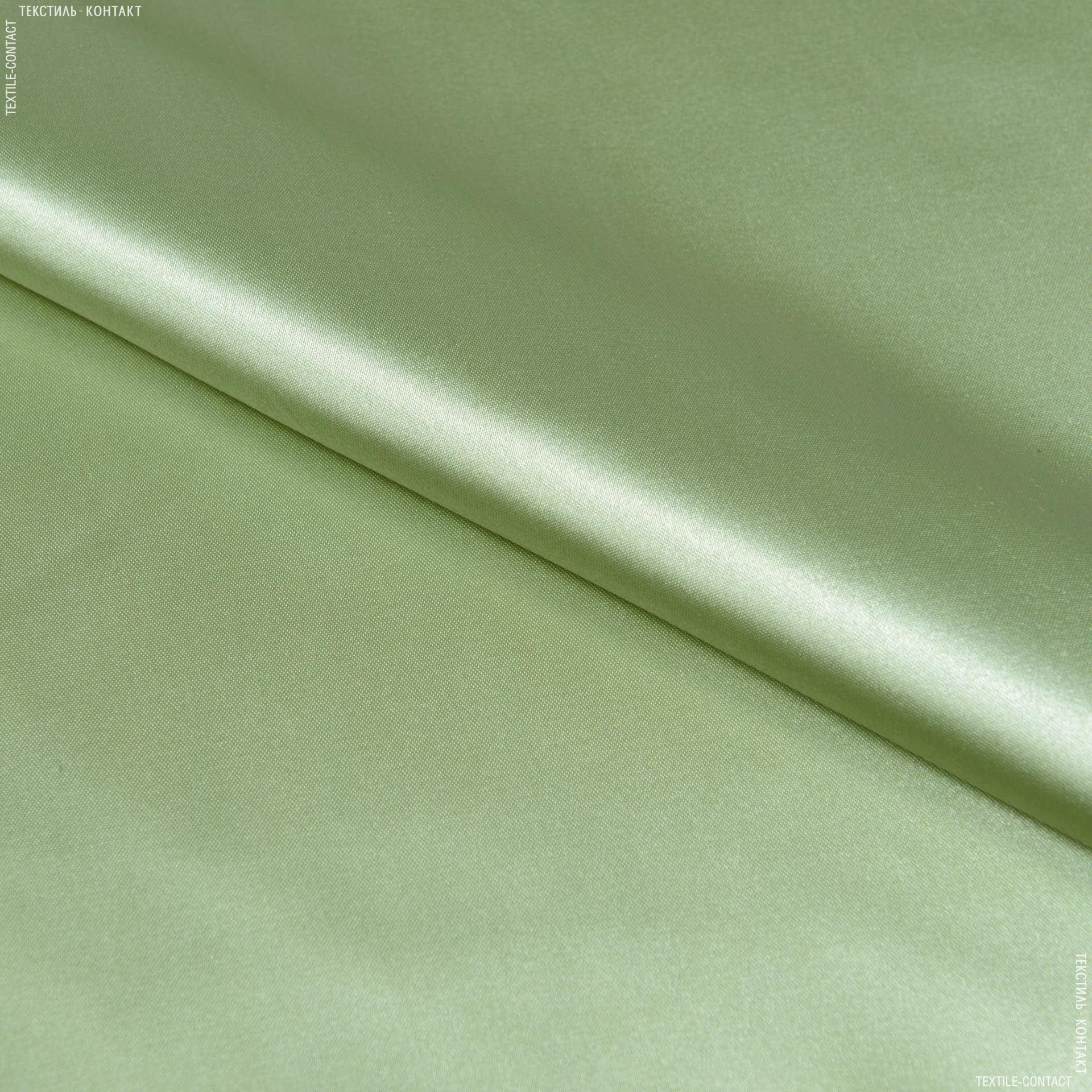 Тканини для костюмів - Атлас щільний оливковий