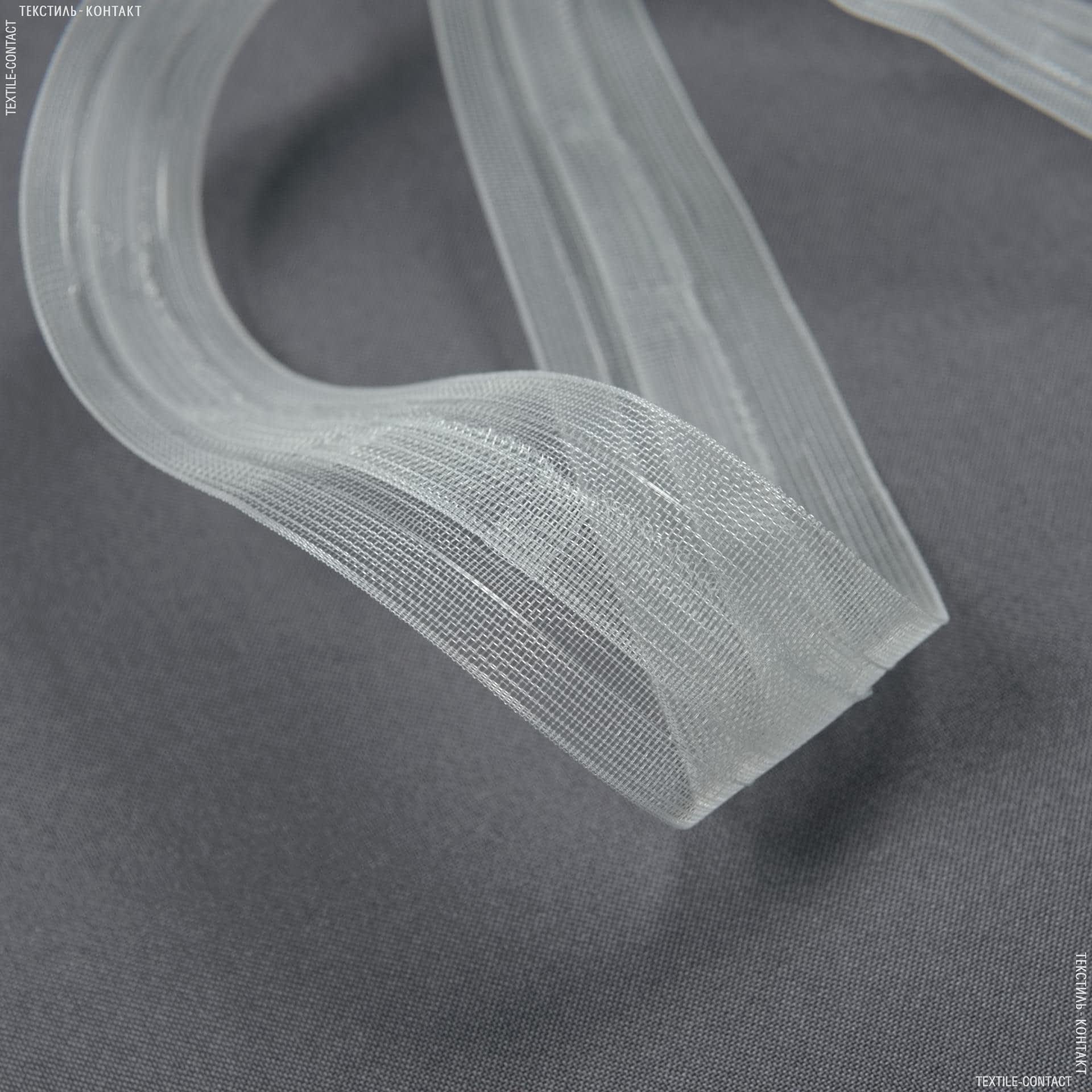 Тасьма шторна рівномірна, прозора  КС 1:2.5  40мм±0.5мм /100м