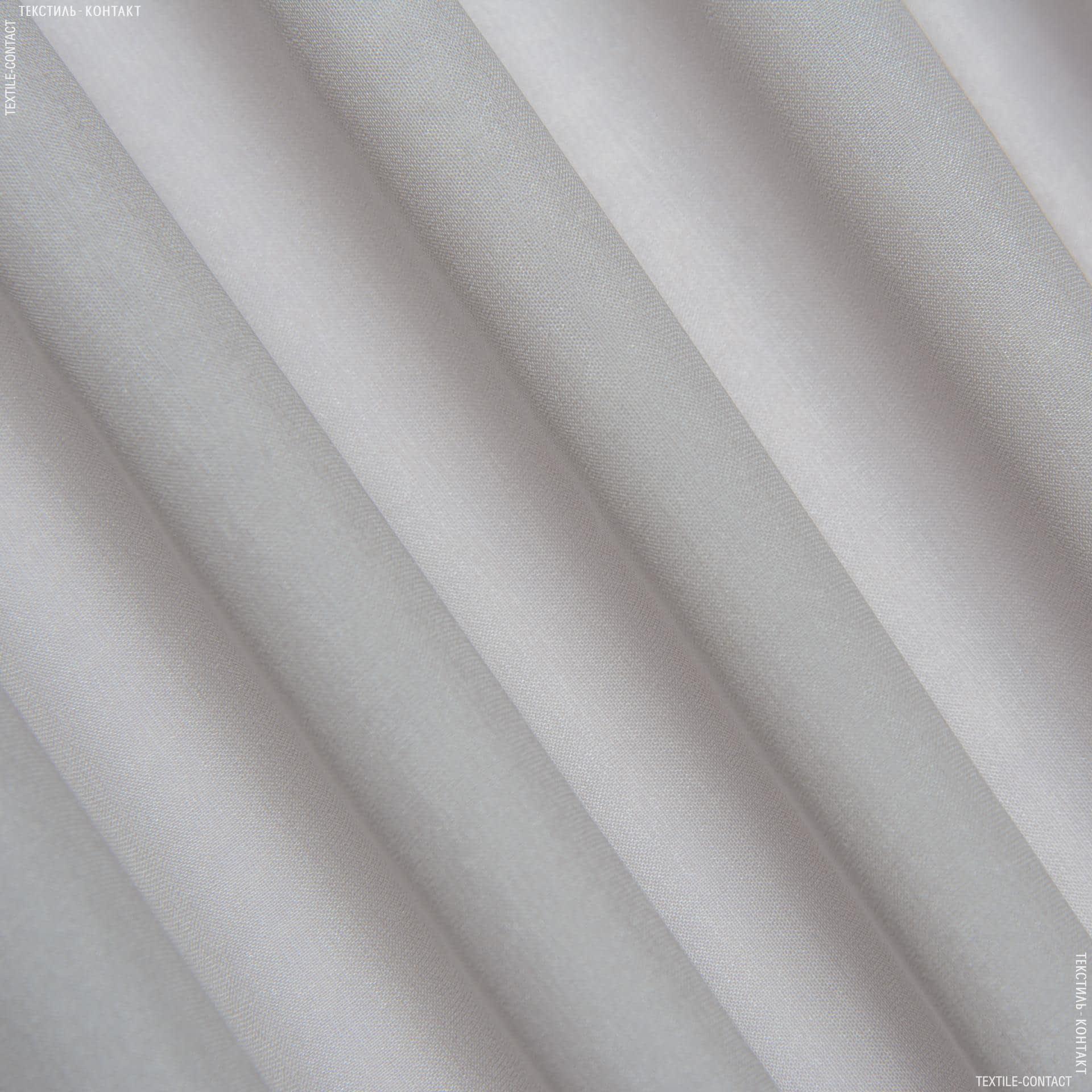Ткани шифон - Шифон  натур стр  серо-бежевый