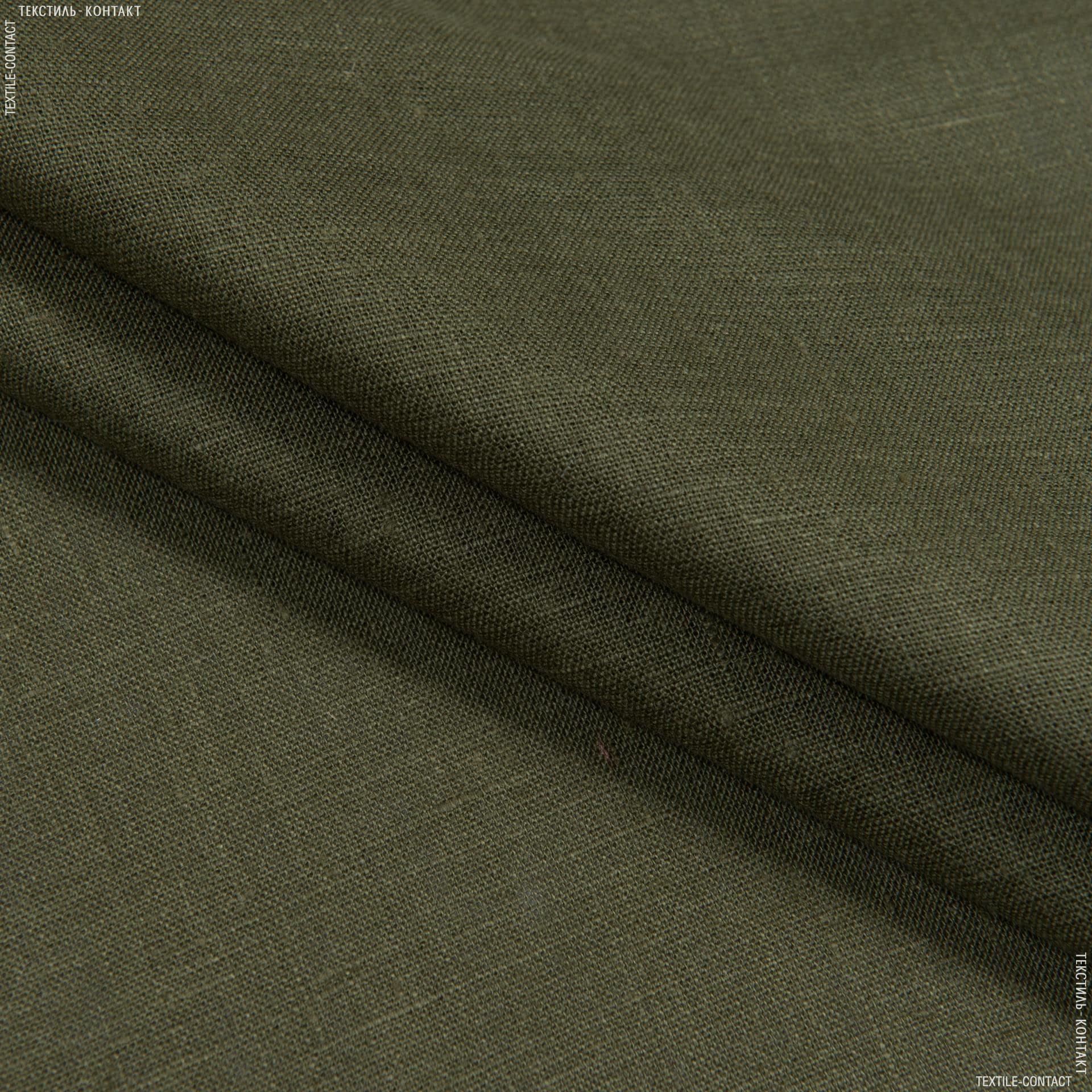 Тканини для штанів - Льон хакі