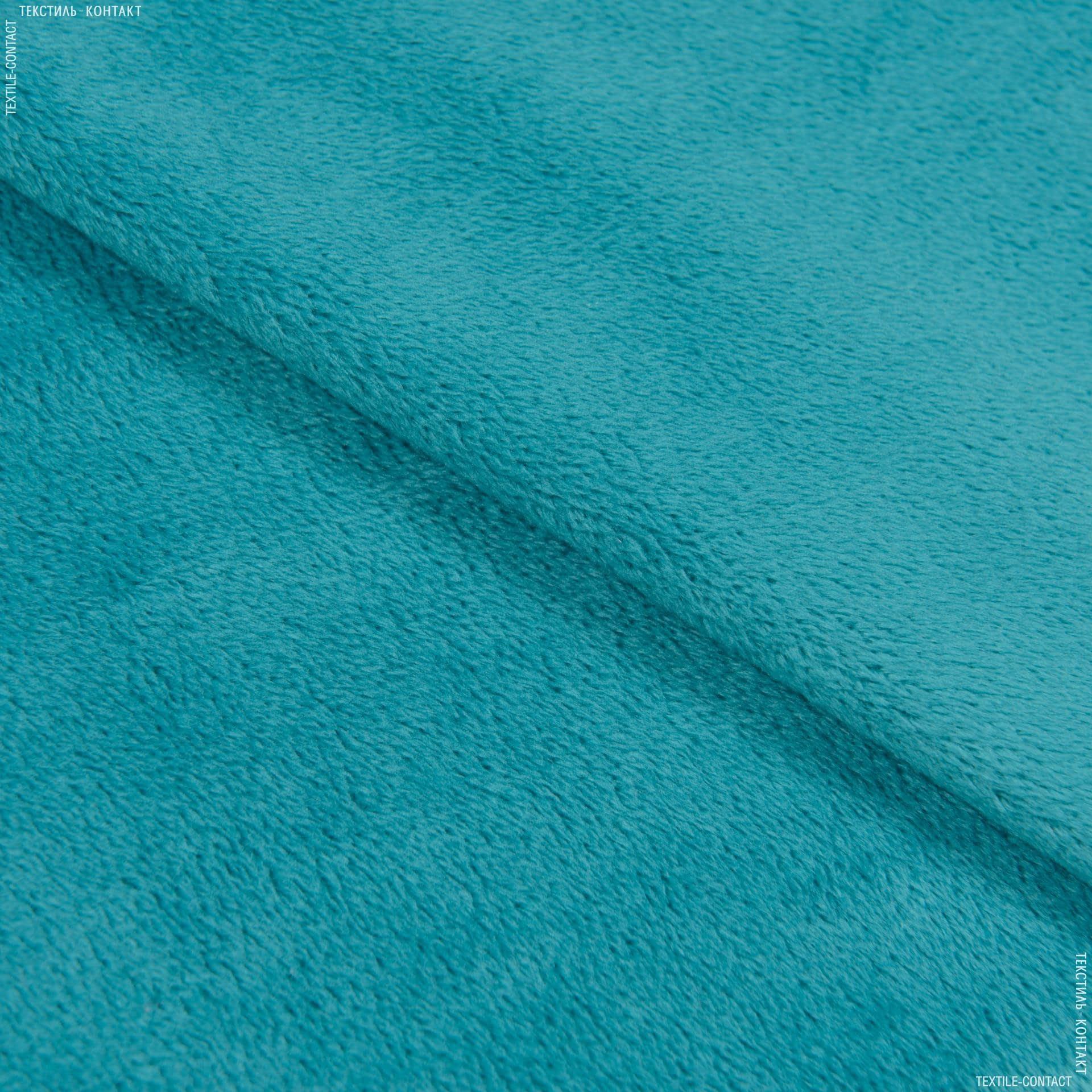 Ткани для верхней одежды - Плюш (вельбо) бирюзовый
