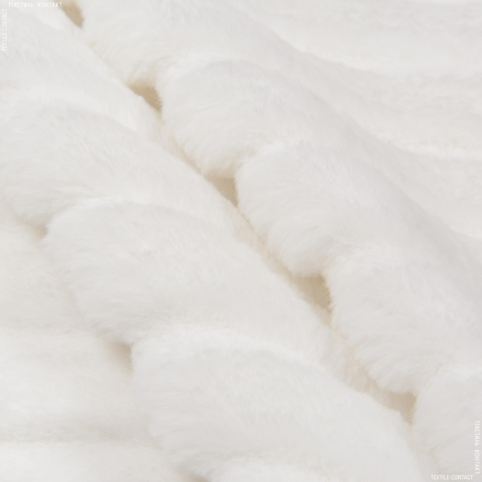 Ткани для верхней одежды - Мех шубный полоска белый