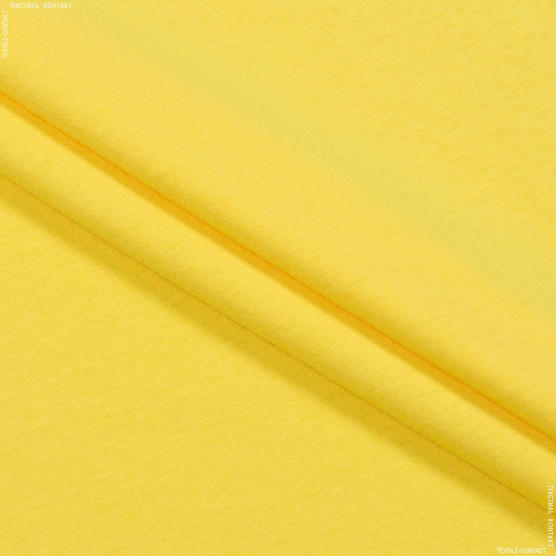Ткани для спортивной одежды - Кулирное полотно  100см х 2 желтый лимон