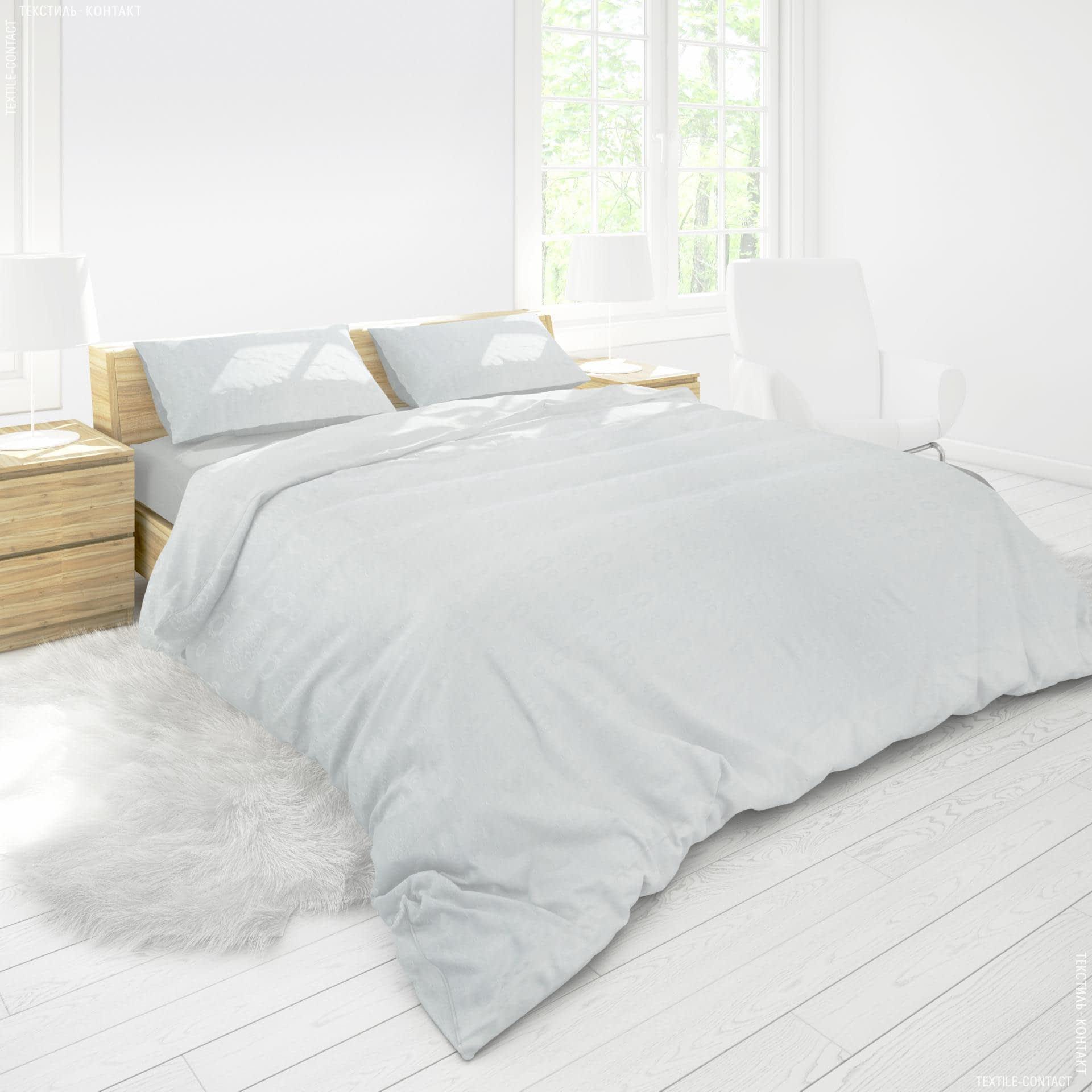 Ткани для постельного белья - Сатин   жаккард отбеленный