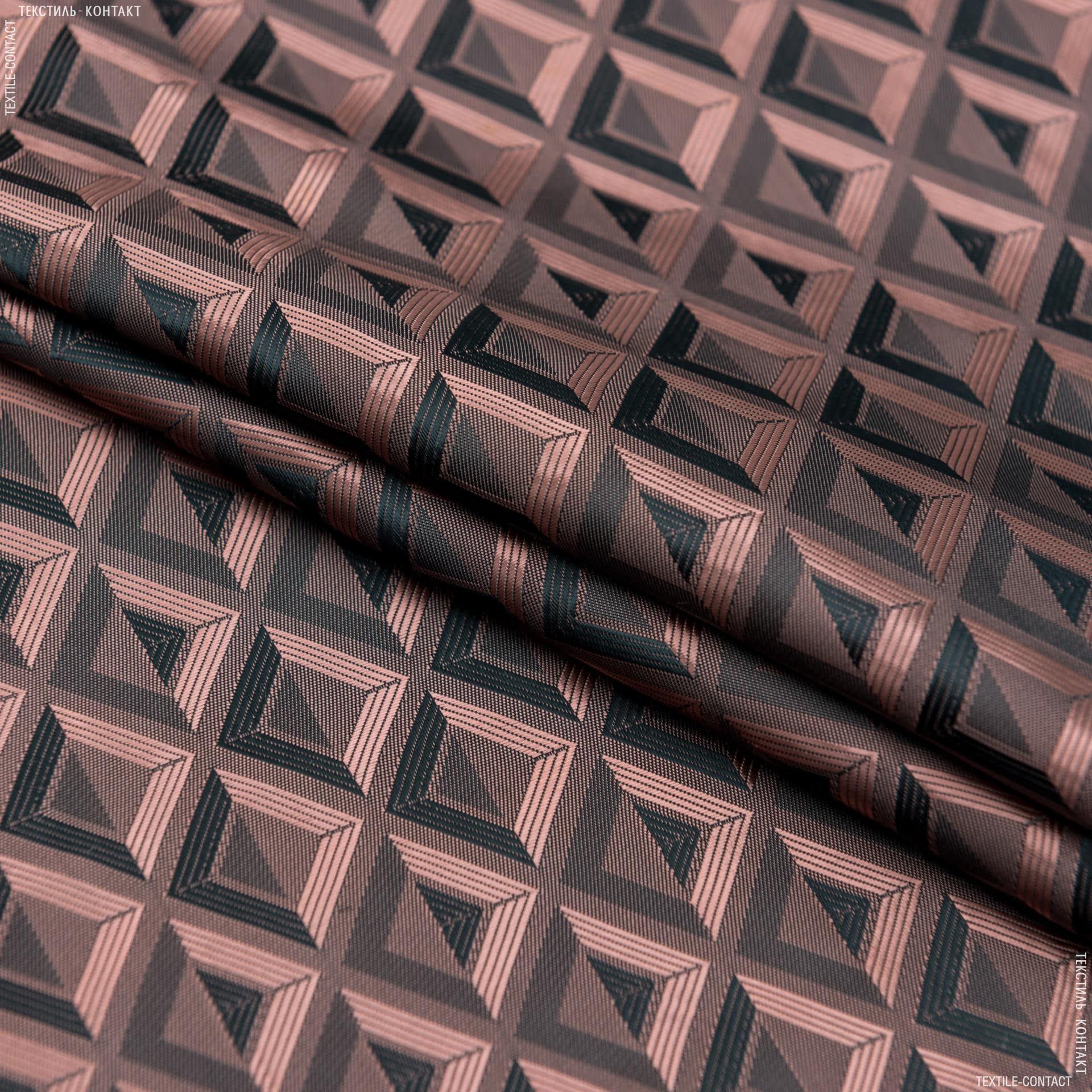 Тканини підкладкова тканина - Підкладковий жакард хамелеон коричневий